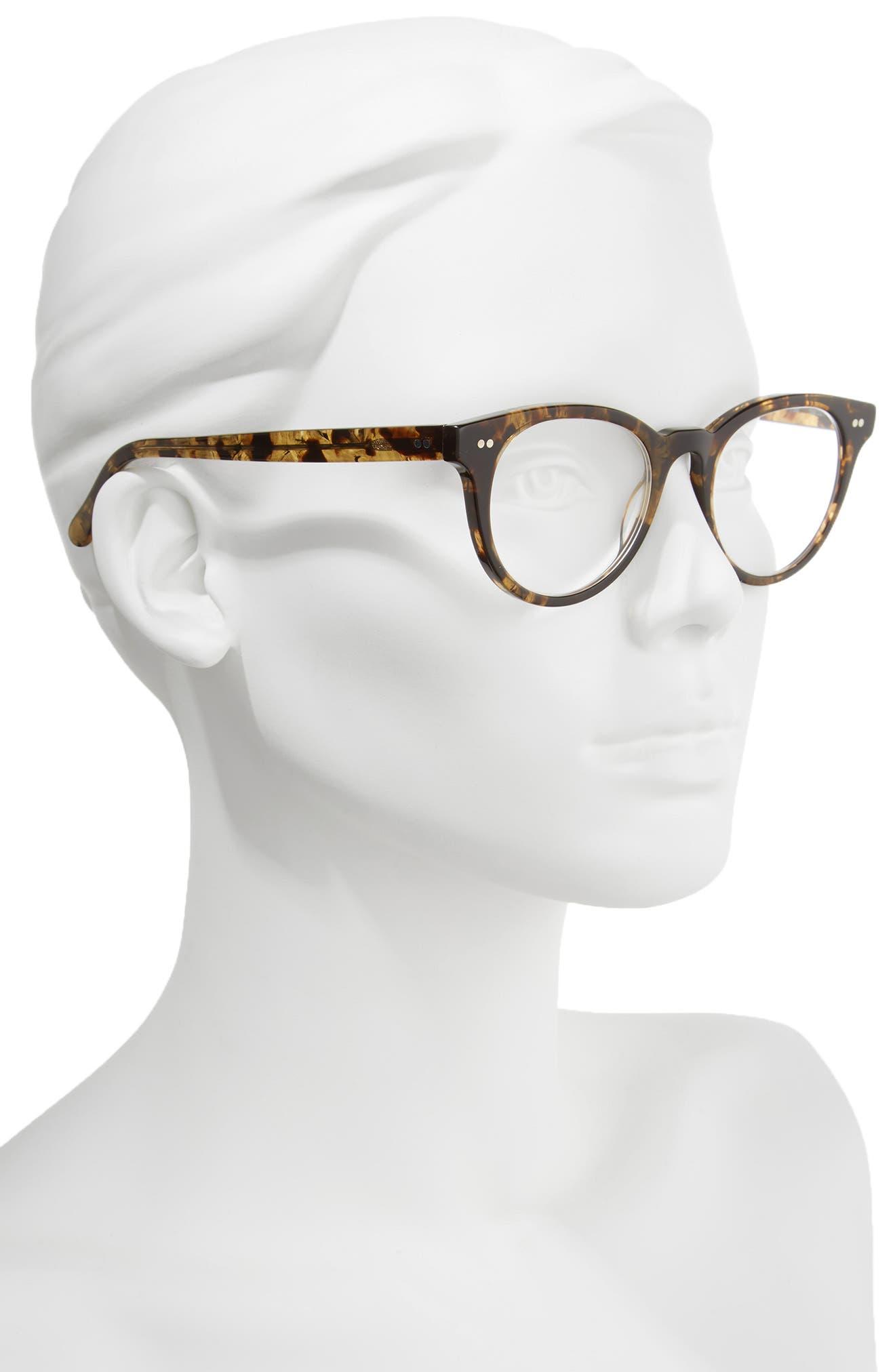 Abby 50mm Reading Glasses,                             Alternate thumbnail 2, color,                             DARK TORTOISE