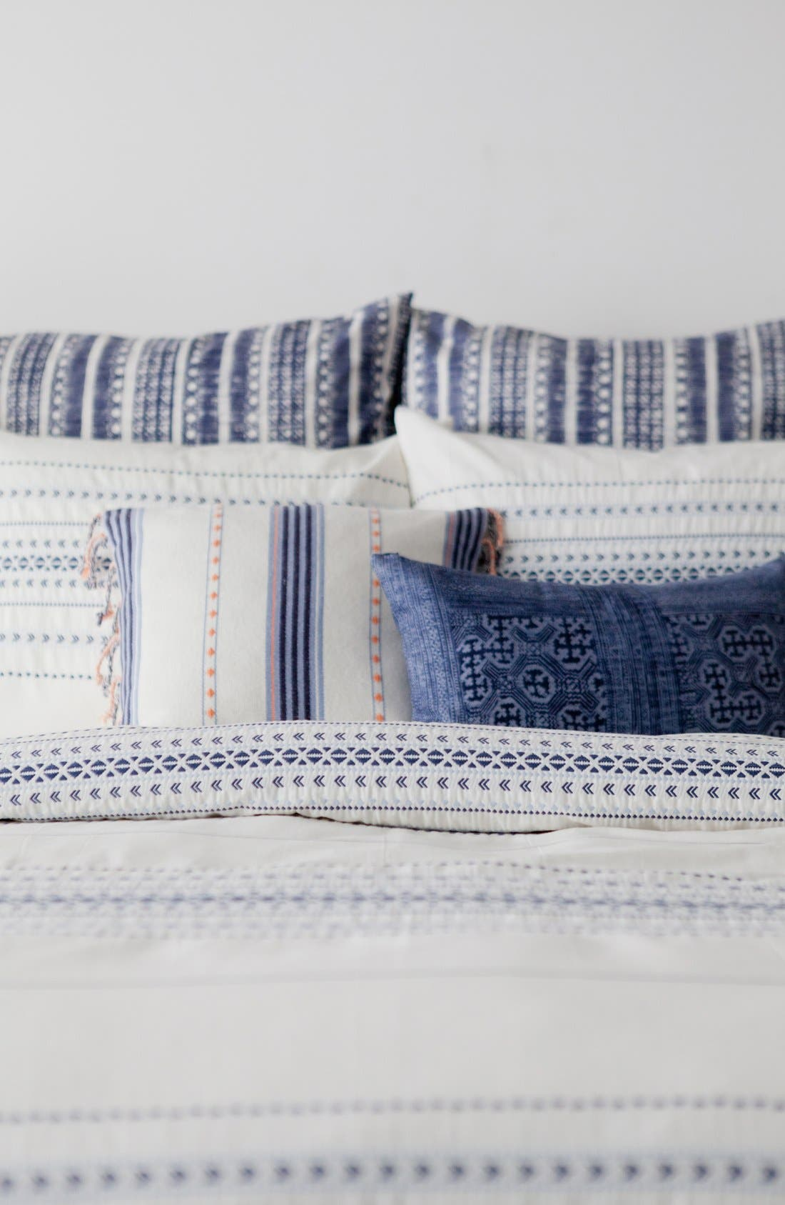 'Indigo Stripe' Sham,                             Alternate thumbnail 6, color,                             100