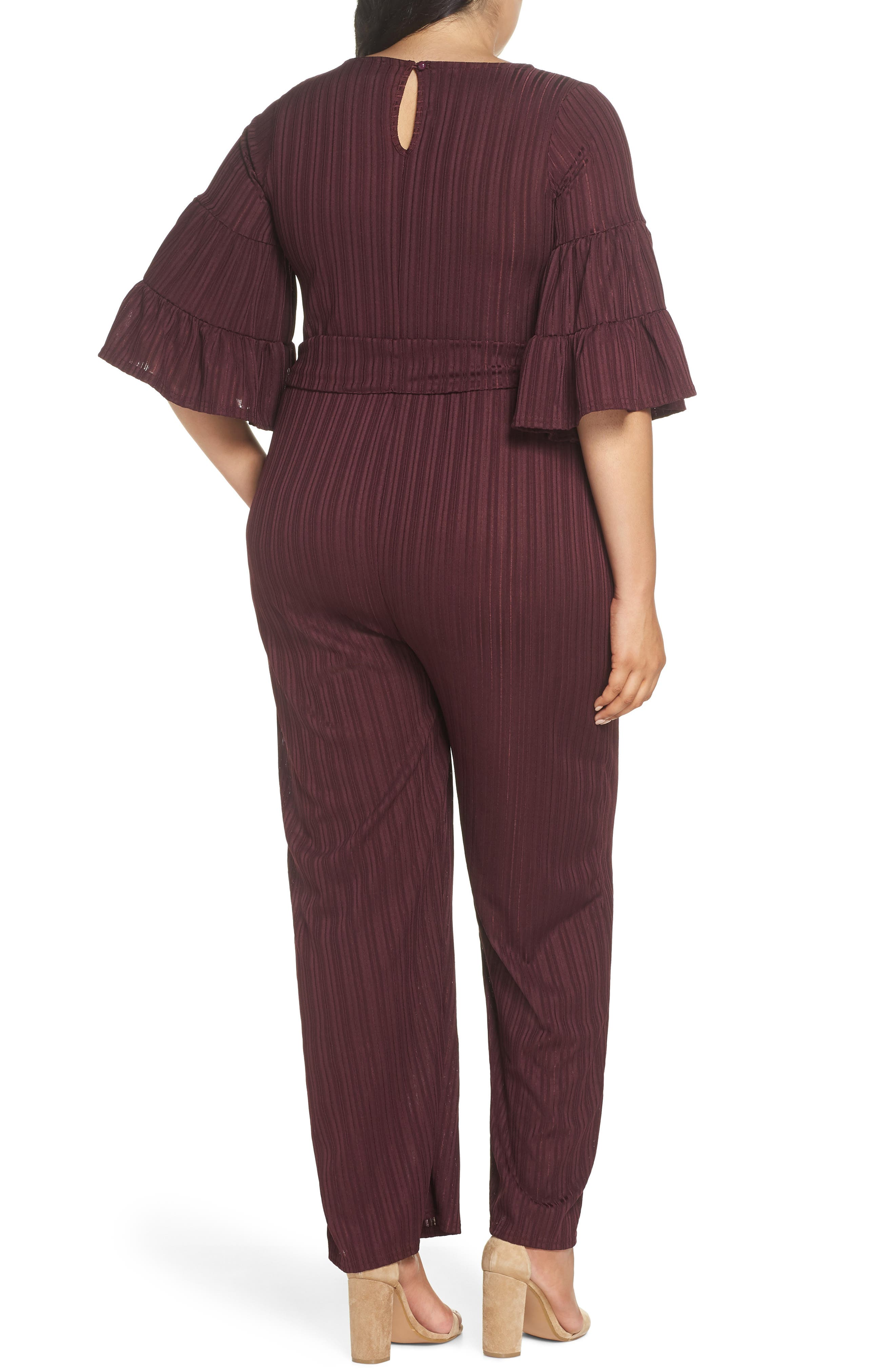 Ruffle Sleeve Jumpsuit,                             Alternate thumbnail 2, color,                             500