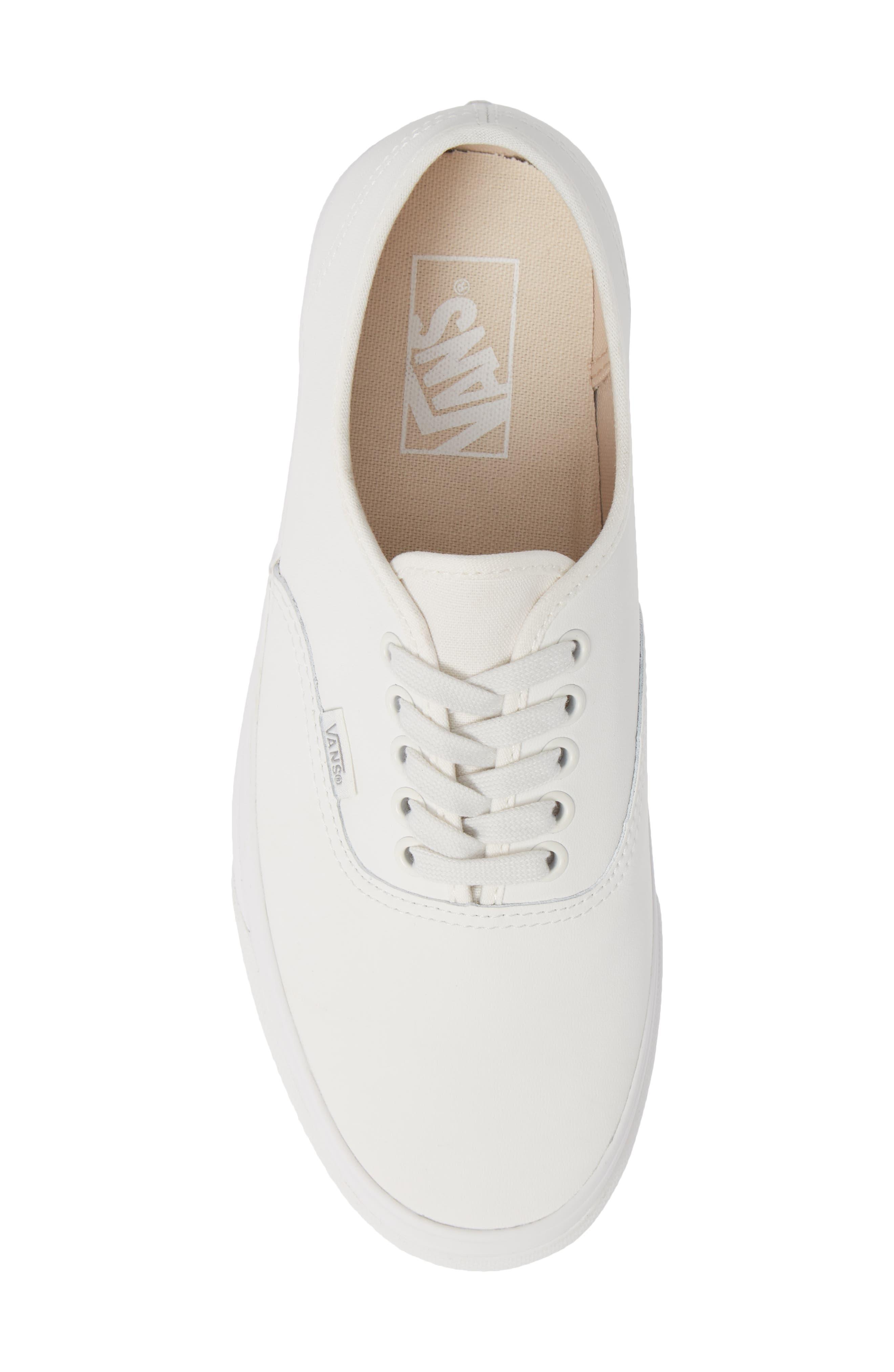 Authentic Buck Sneaker,                             Alternate thumbnail 5, color,                             WHITE