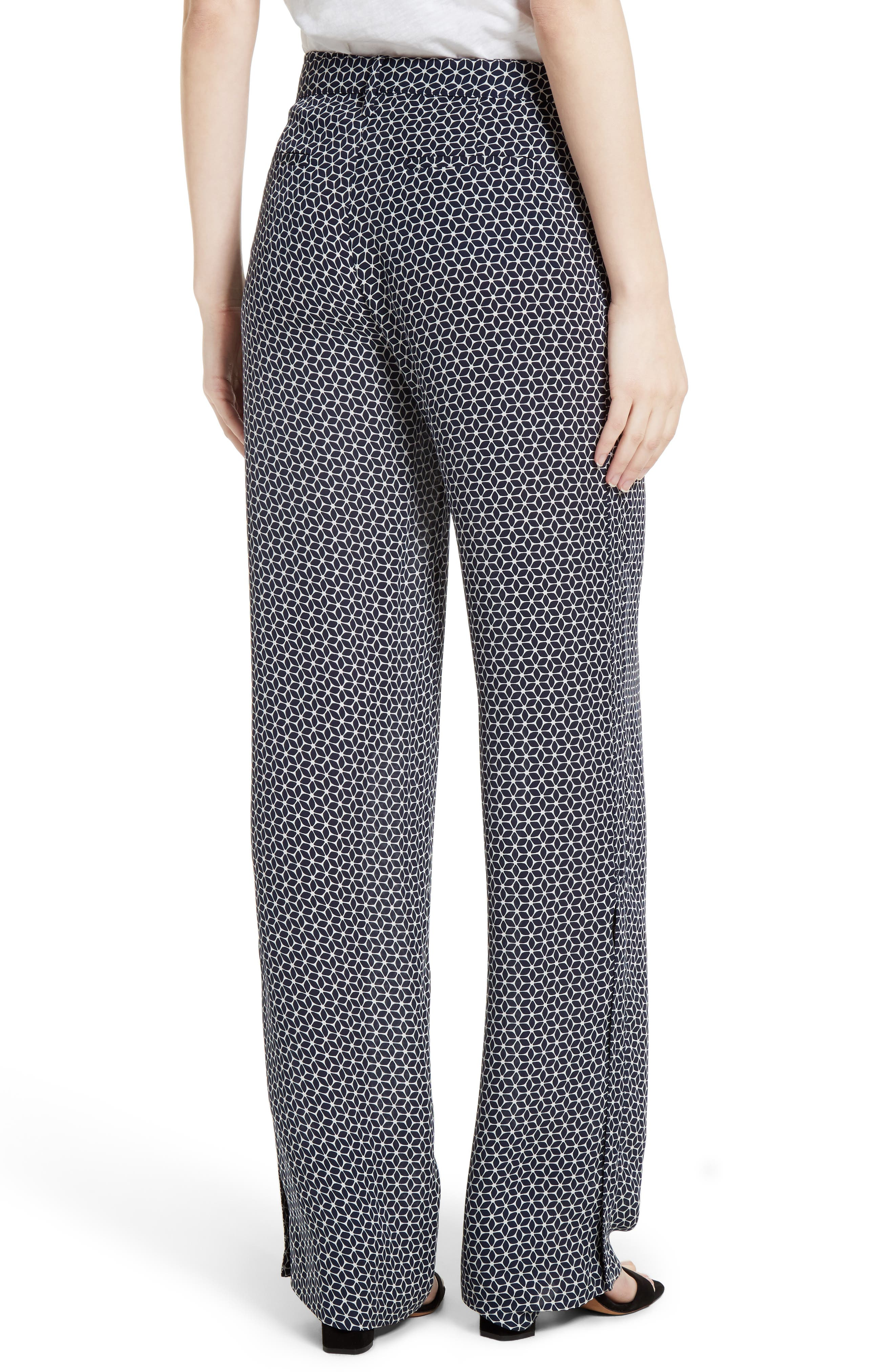 Brilda Geo Print Silk Pants,                             Alternate thumbnail 2, color,                             499