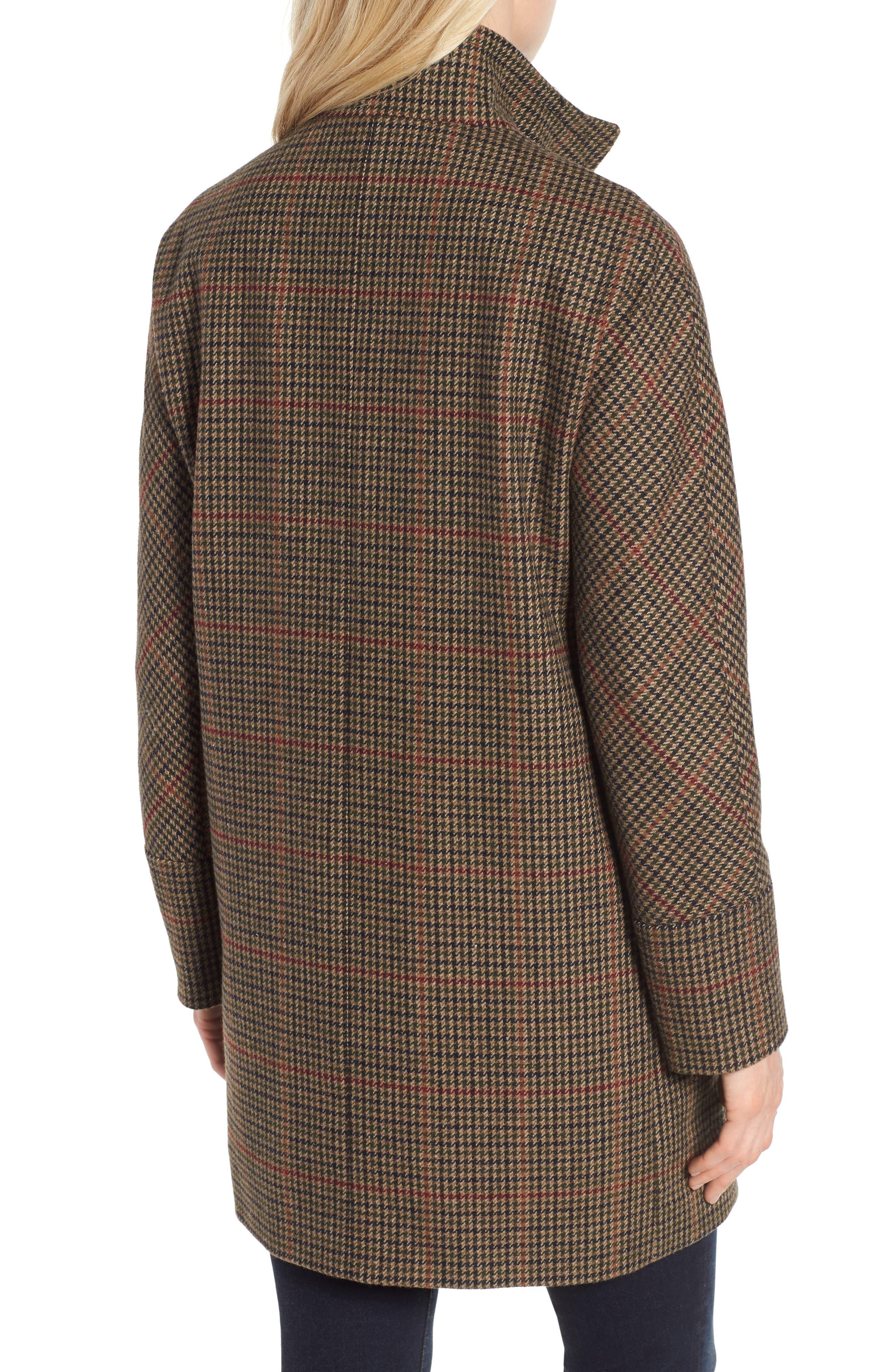 Plaid Topper Coat,                             Alternate thumbnail 2, color,                             MULTI