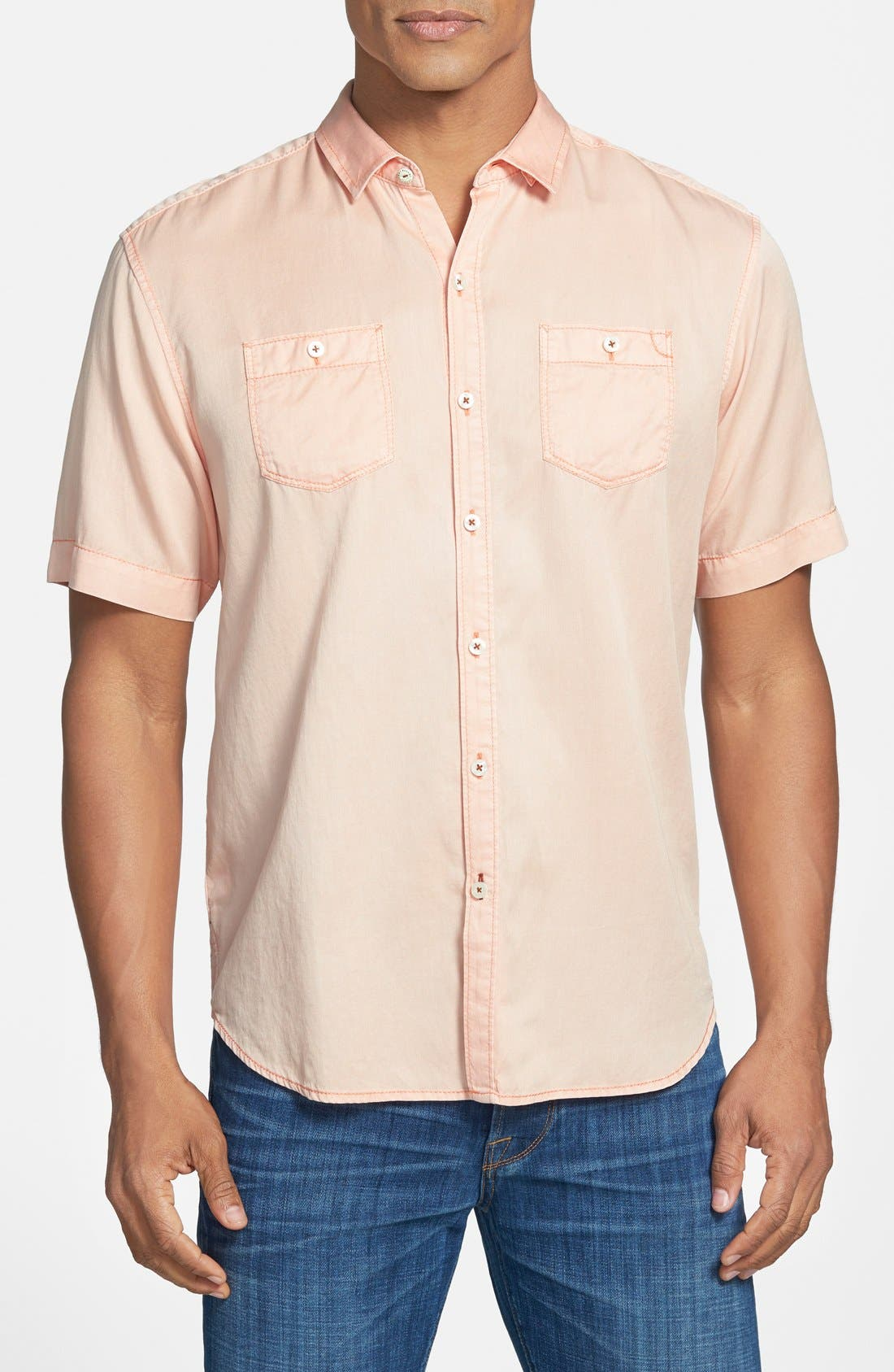 'New Twilly' Island Modern Fit Short Sleeve Twill Shirt,                             Main thumbnail 16, color,