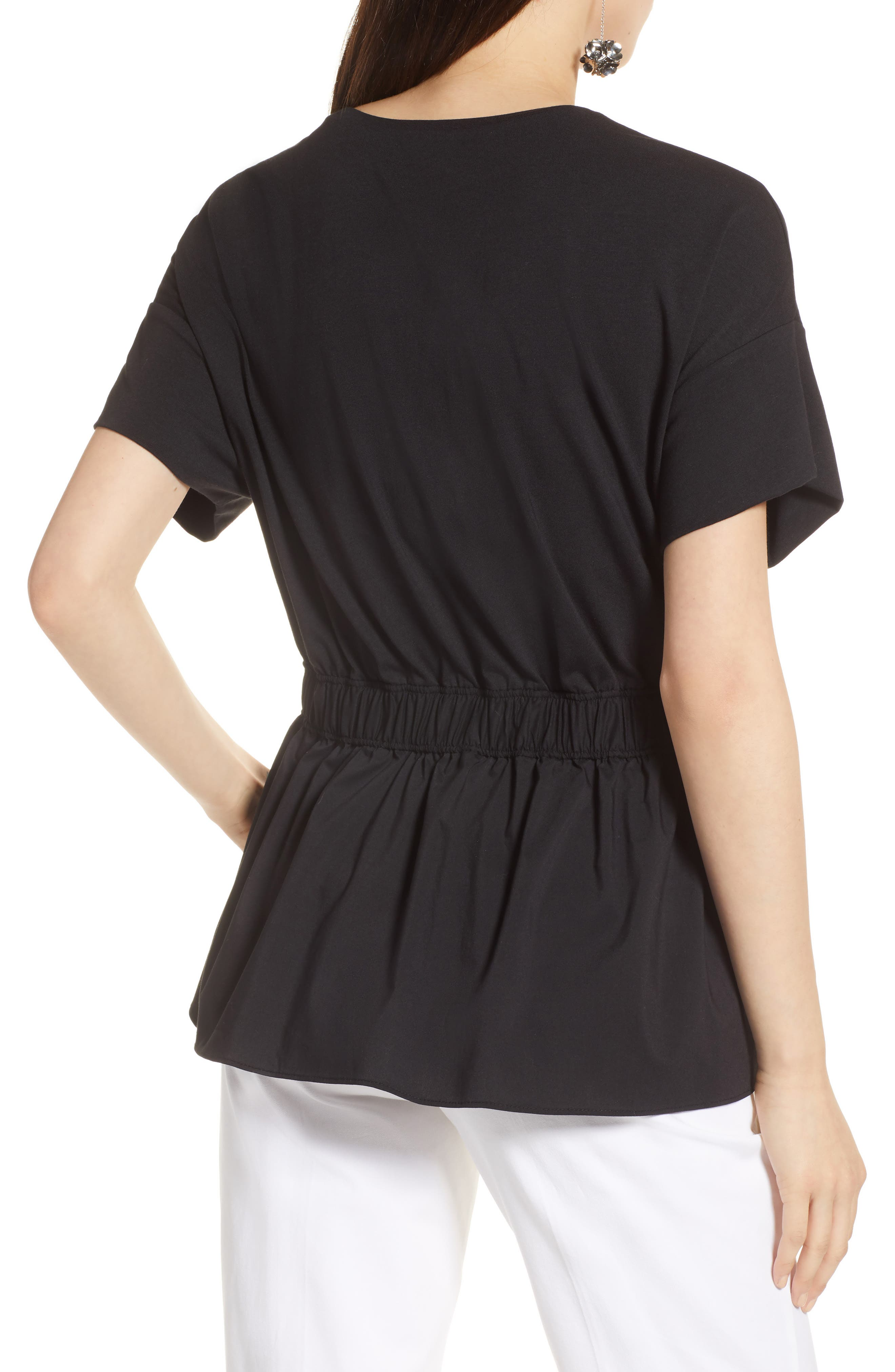 Gathered Waist Top,                             Alternate thumbnail 2, color,                             001