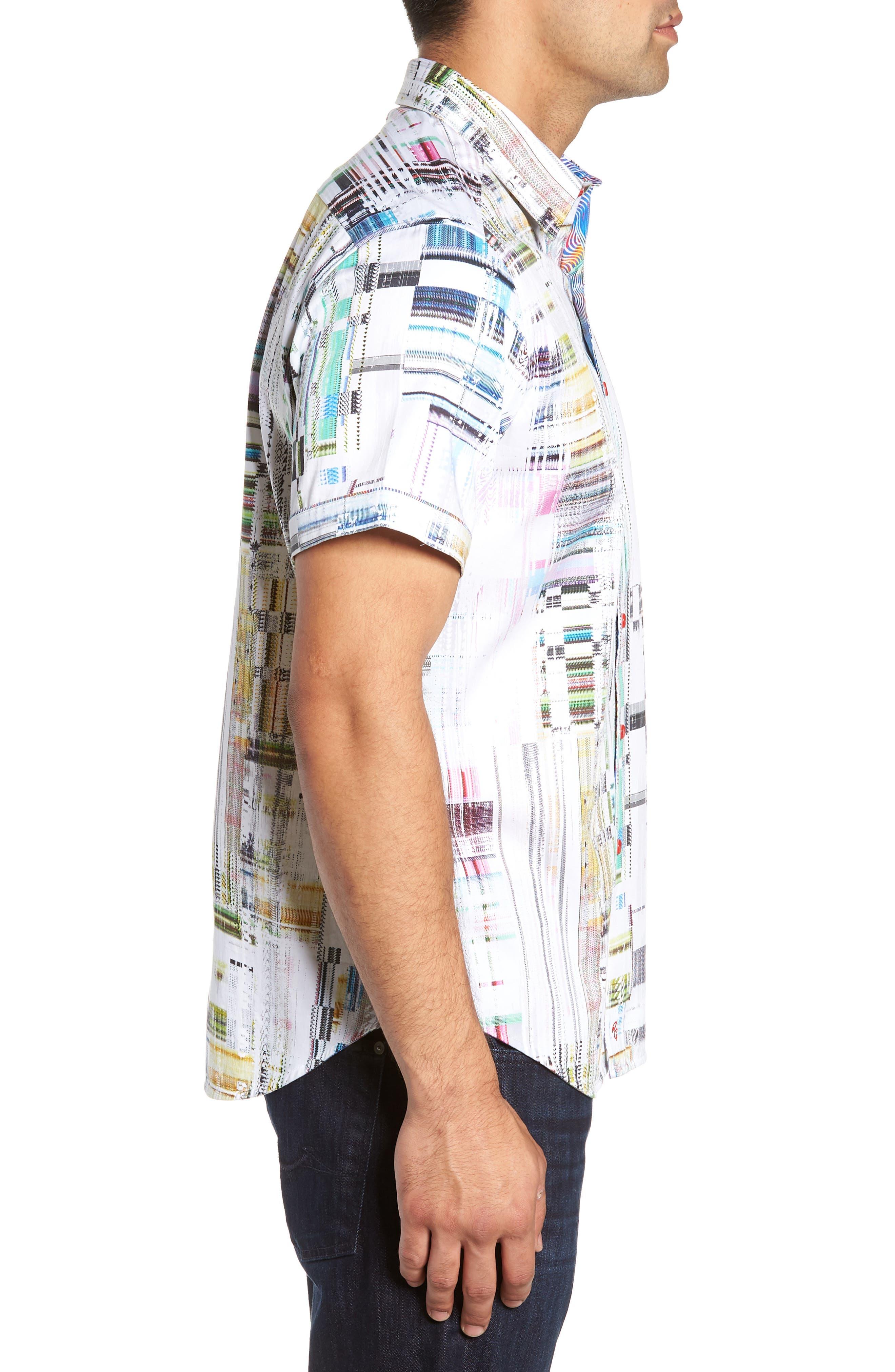 Paracels Classic Fit Sport Shirt,                             Alternate thumbnail 4, color,                             MULTI