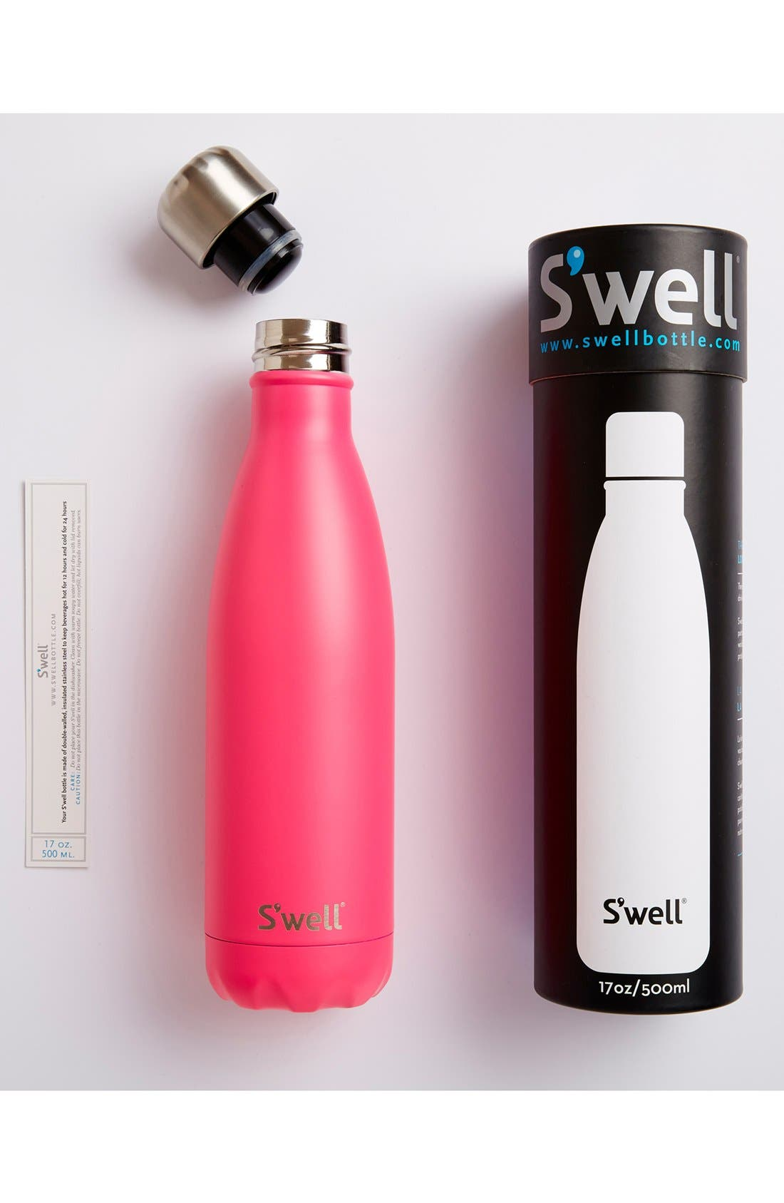 'Hand Painted Satin Collection' Water Bottle,                             Alternate thumbnail 4, color,                             651