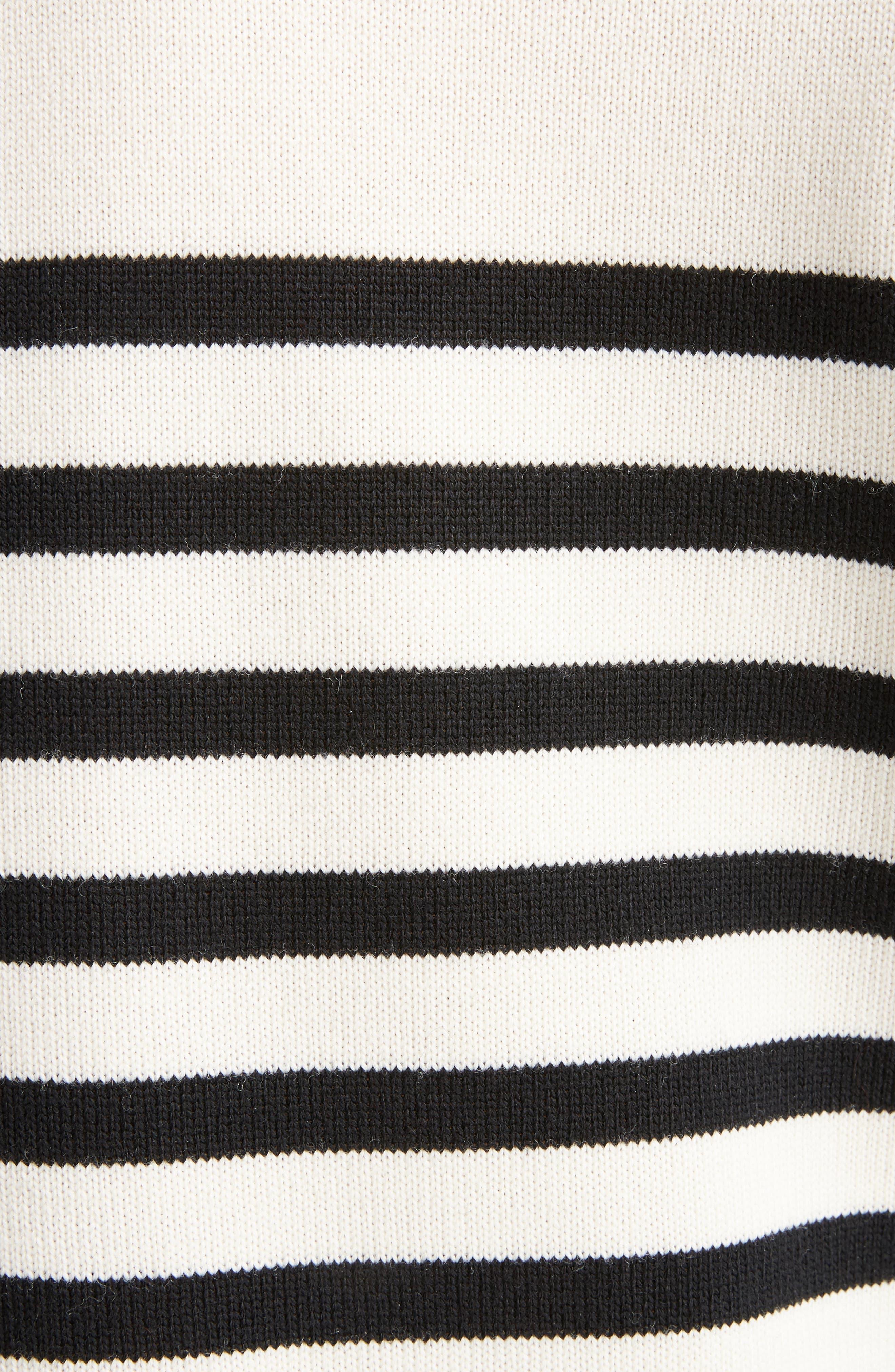 Button Detail Stripe Sweater,                             Alternate thumbnail 5, color,                             100