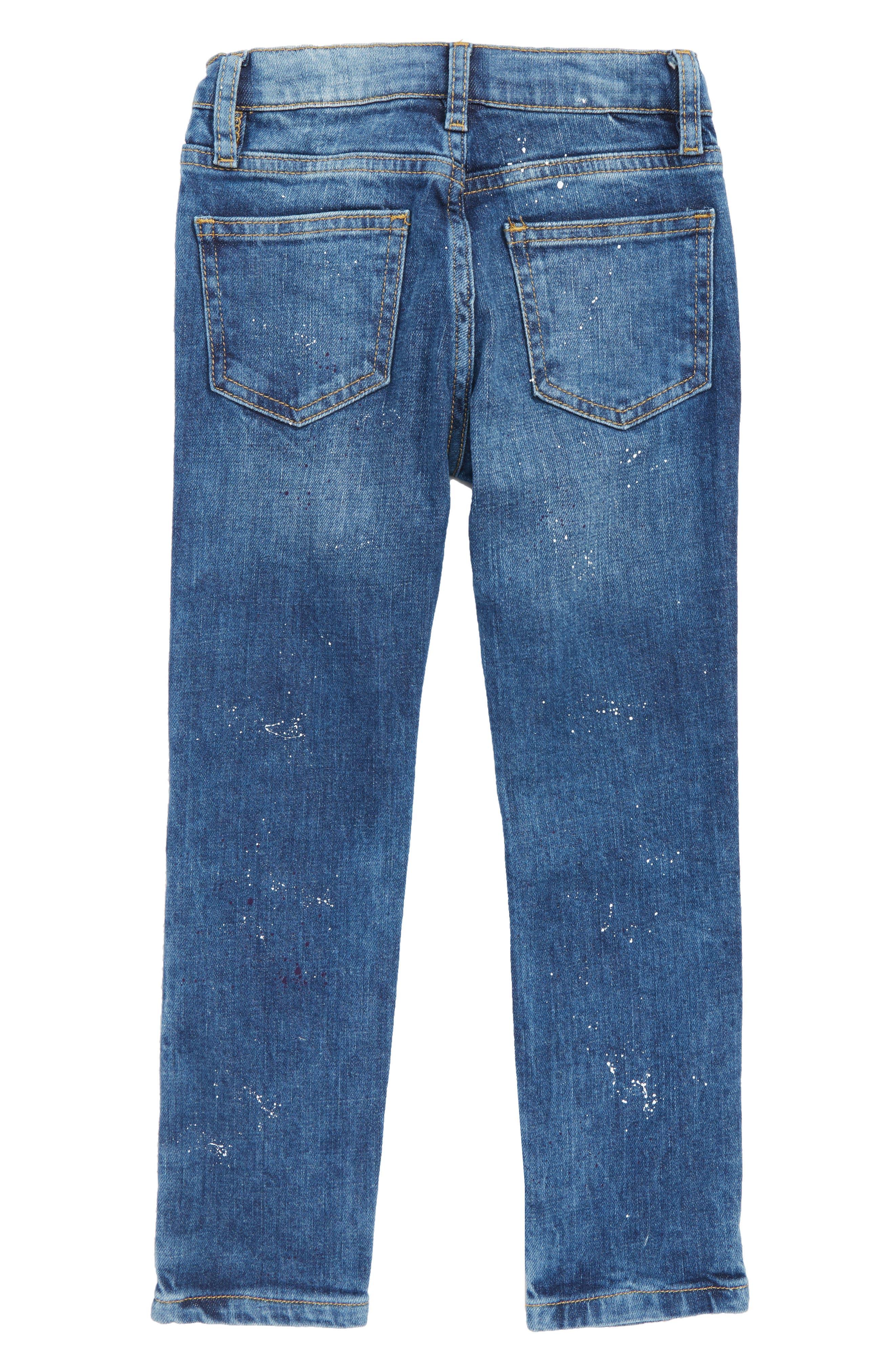 Paint Splatter Straight Leg Jeans,                             Alternate thumbnail 2, color,                             400