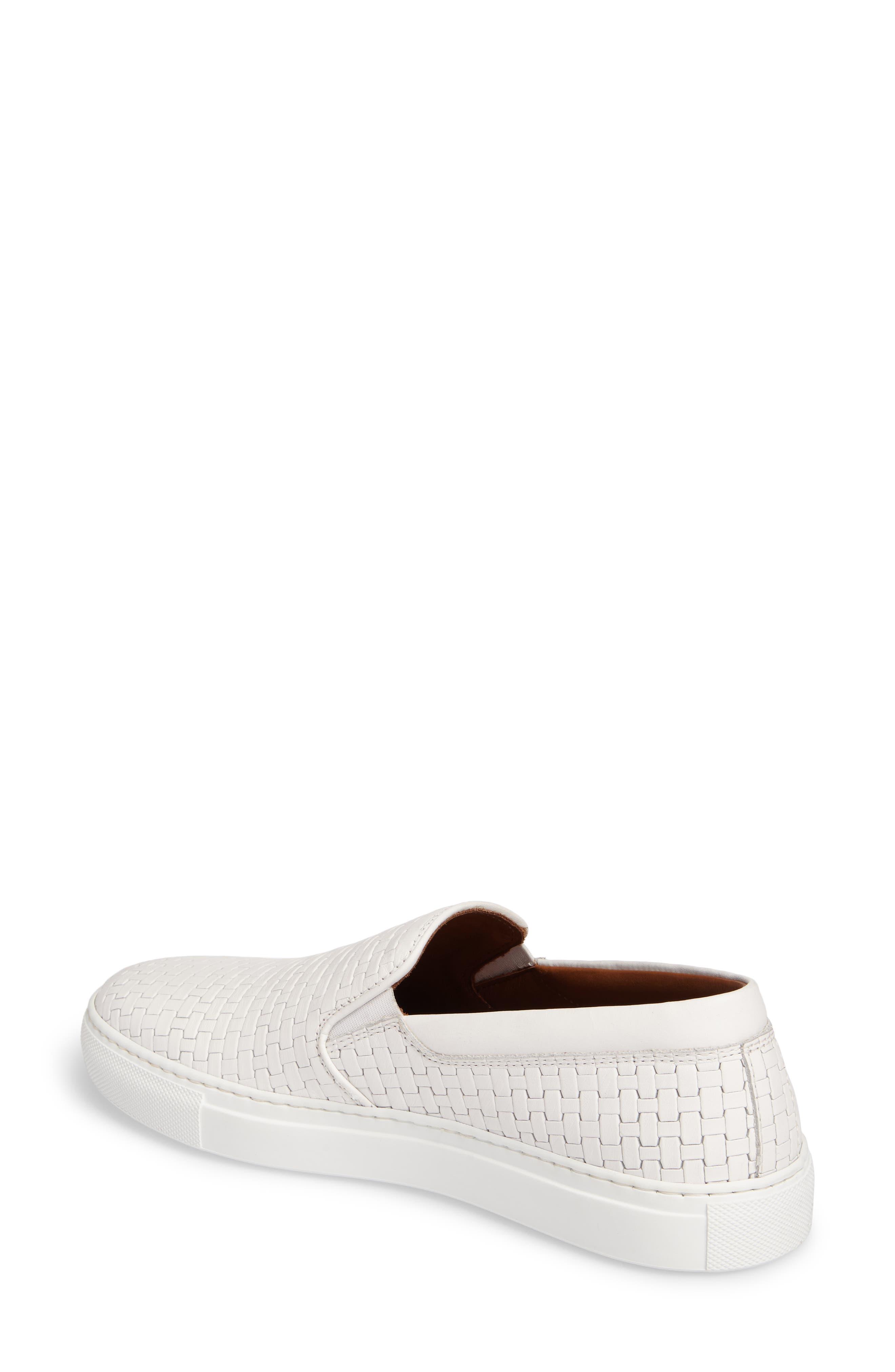 Ashlynn Embossed Slip-On Sneaker,                             Alternate thumbnail 2, color,                             WHITE