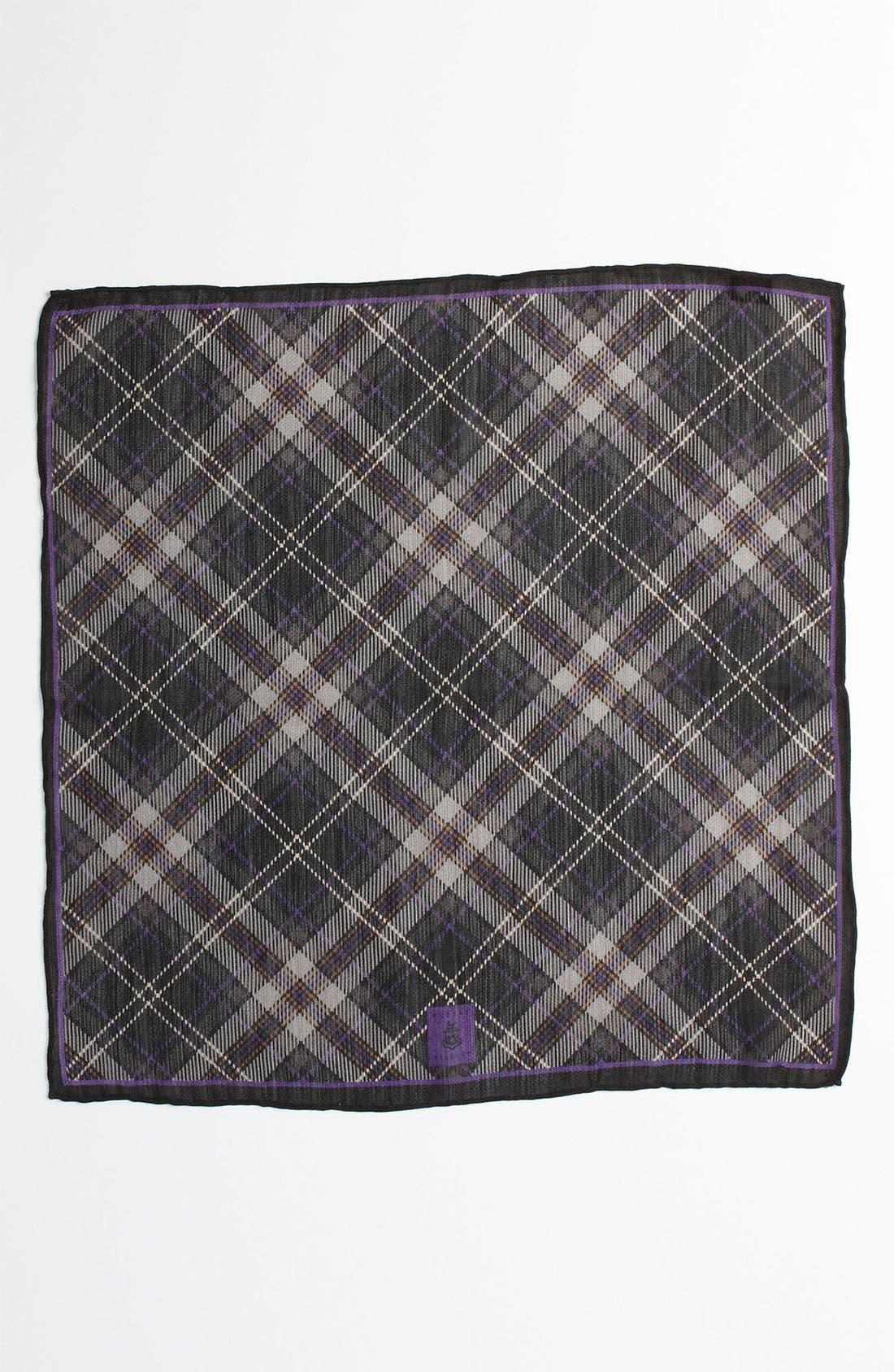 Silk & Wool Pocket Square,                             Alternate thumbnail 3, color,                             030