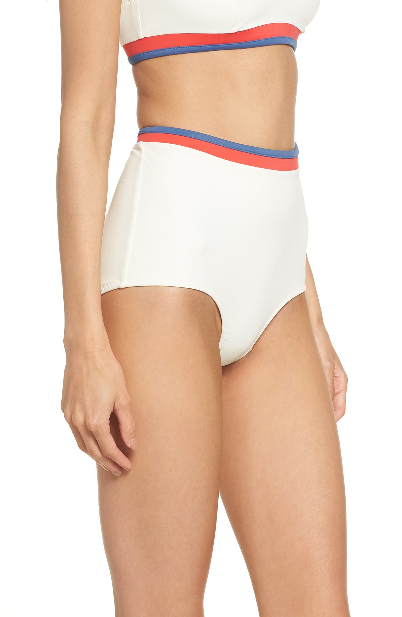 Solid & Stripe Katie High Waist Bikini Bottoms,                             Alternate thumbnail 3, color,                             900