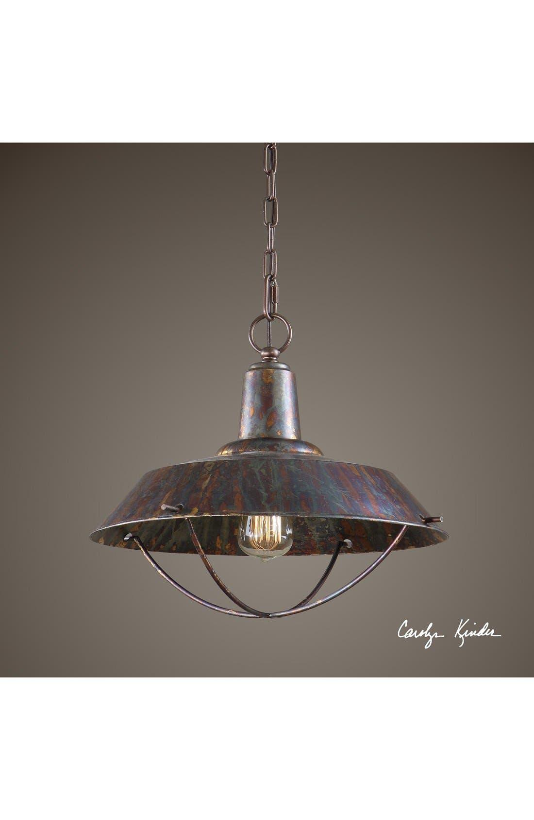'Arcada' Bronzed Pendant Light,                             Alternate thumbnail 3, color,                             220