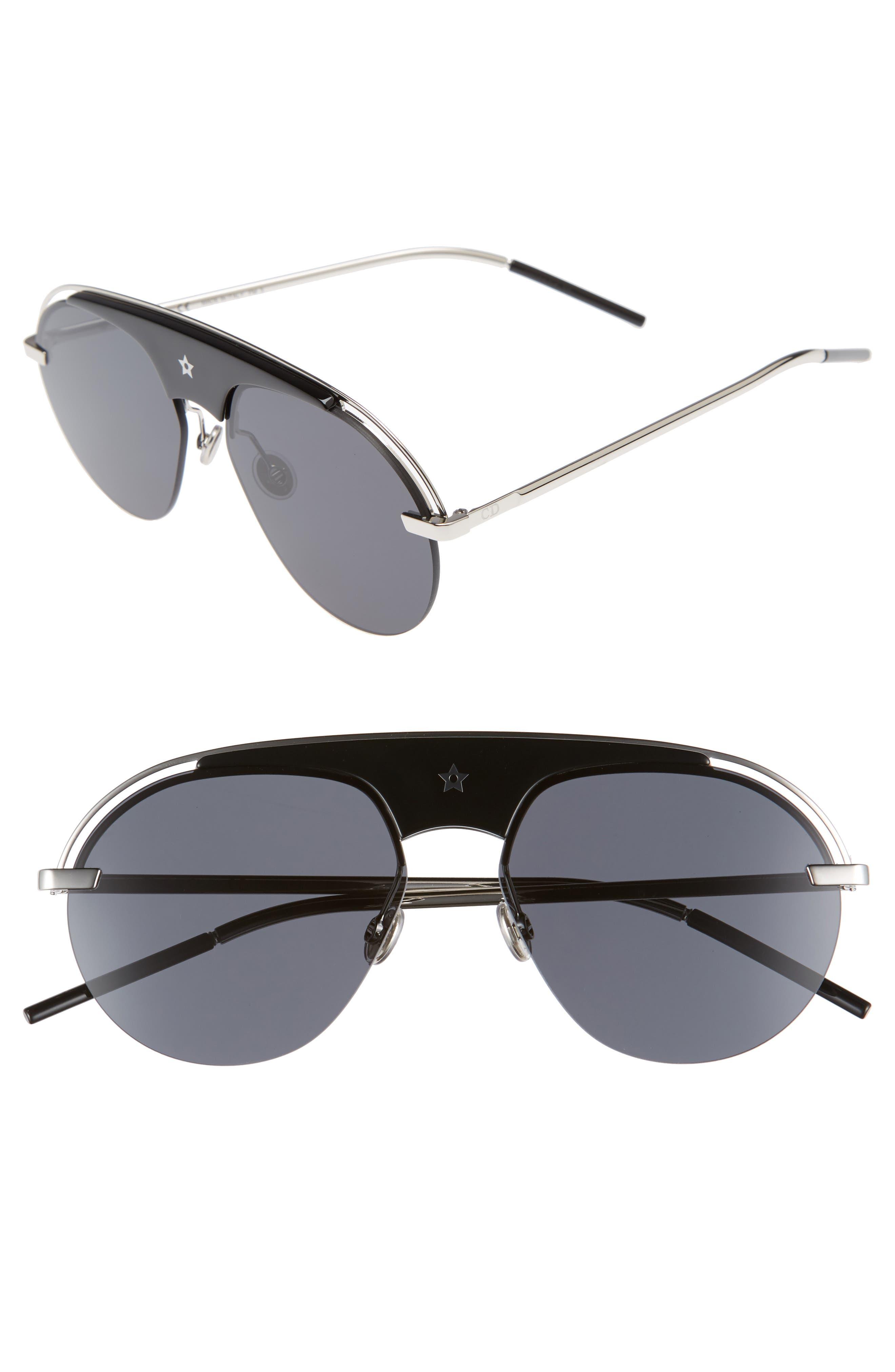 Revolution 58mm Aviator Sunglasses,                             Main thumbnail 1, color,                             001