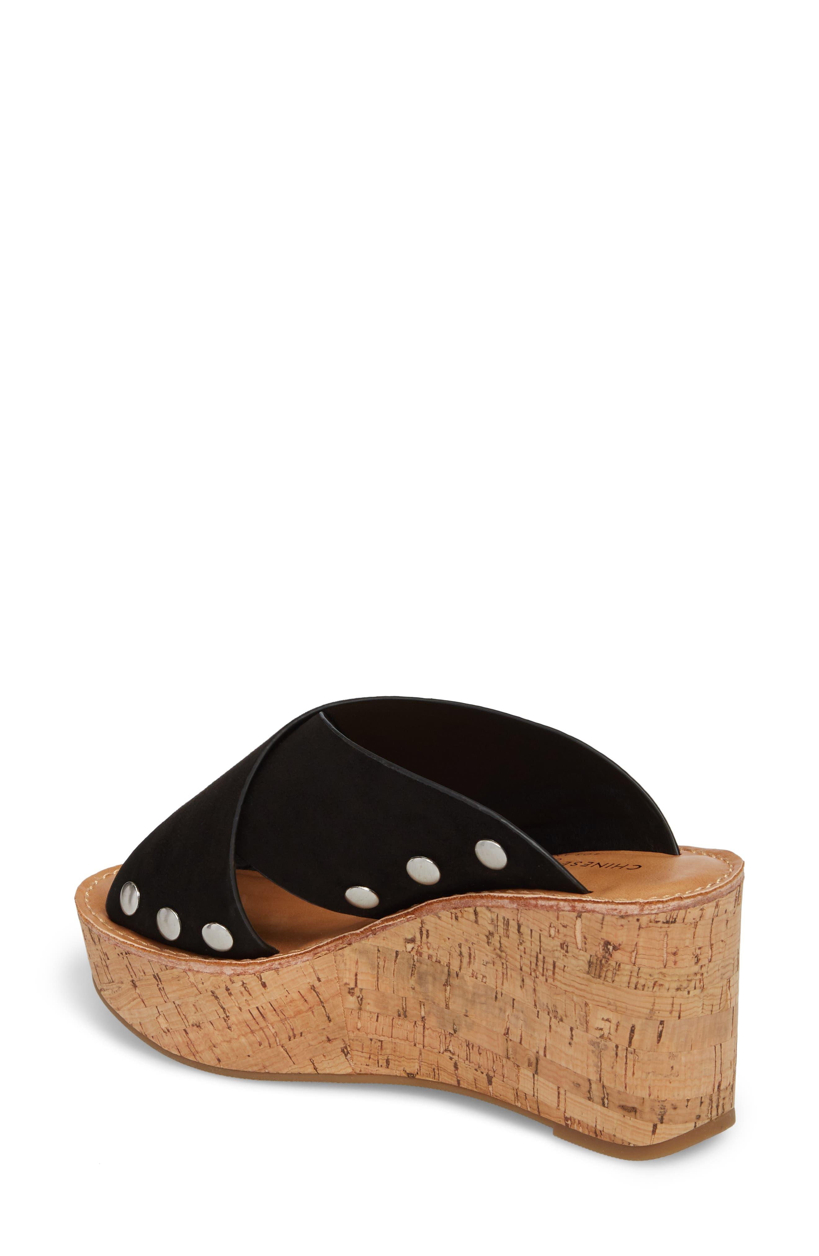 Oahu Platform Wedge Sandal,                             Alternate thumbnail 2, color,                             BLACK
