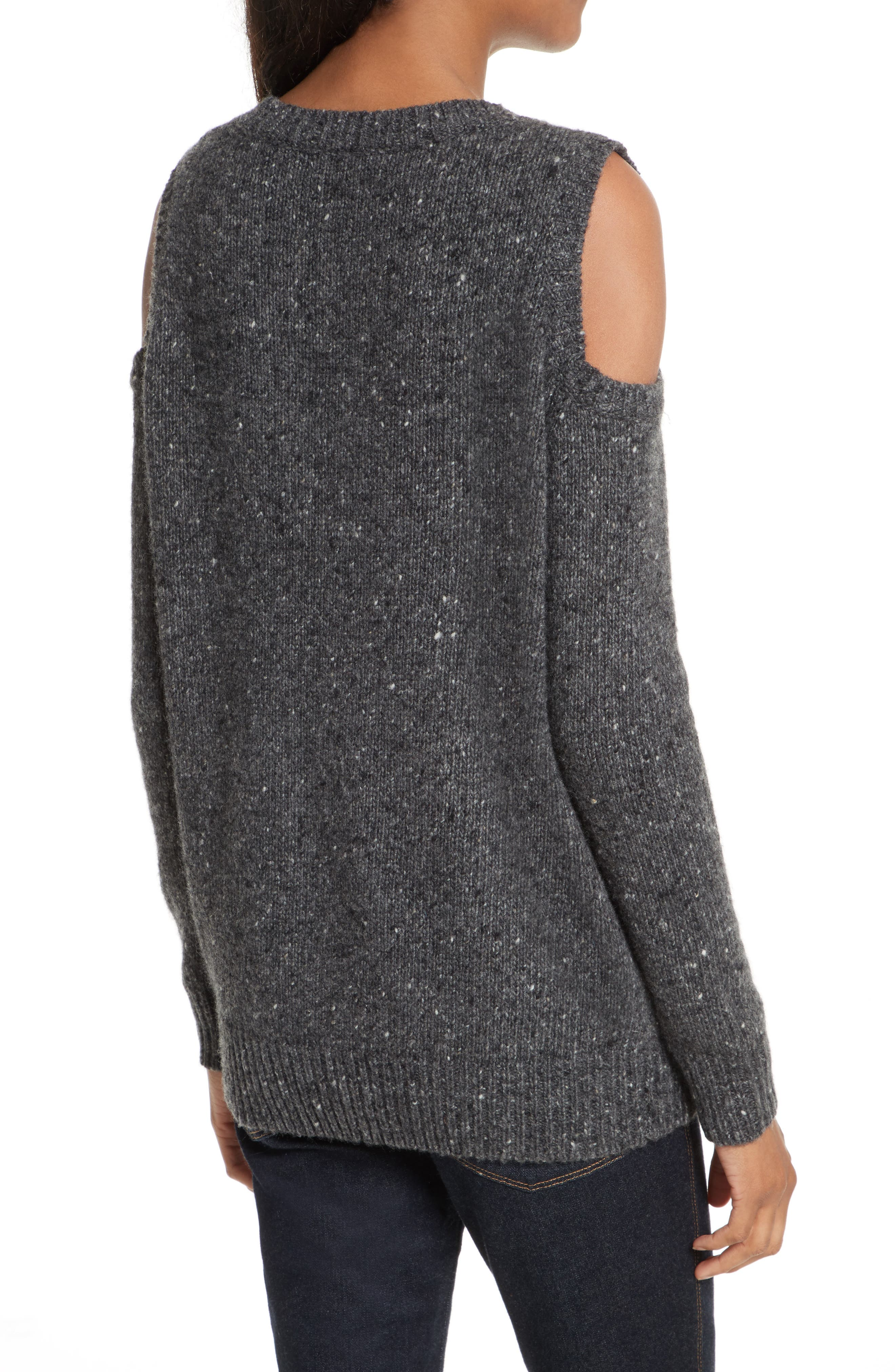 Page Cold Shoulder Sweater,                             Alternate thumbnail 9, color,
