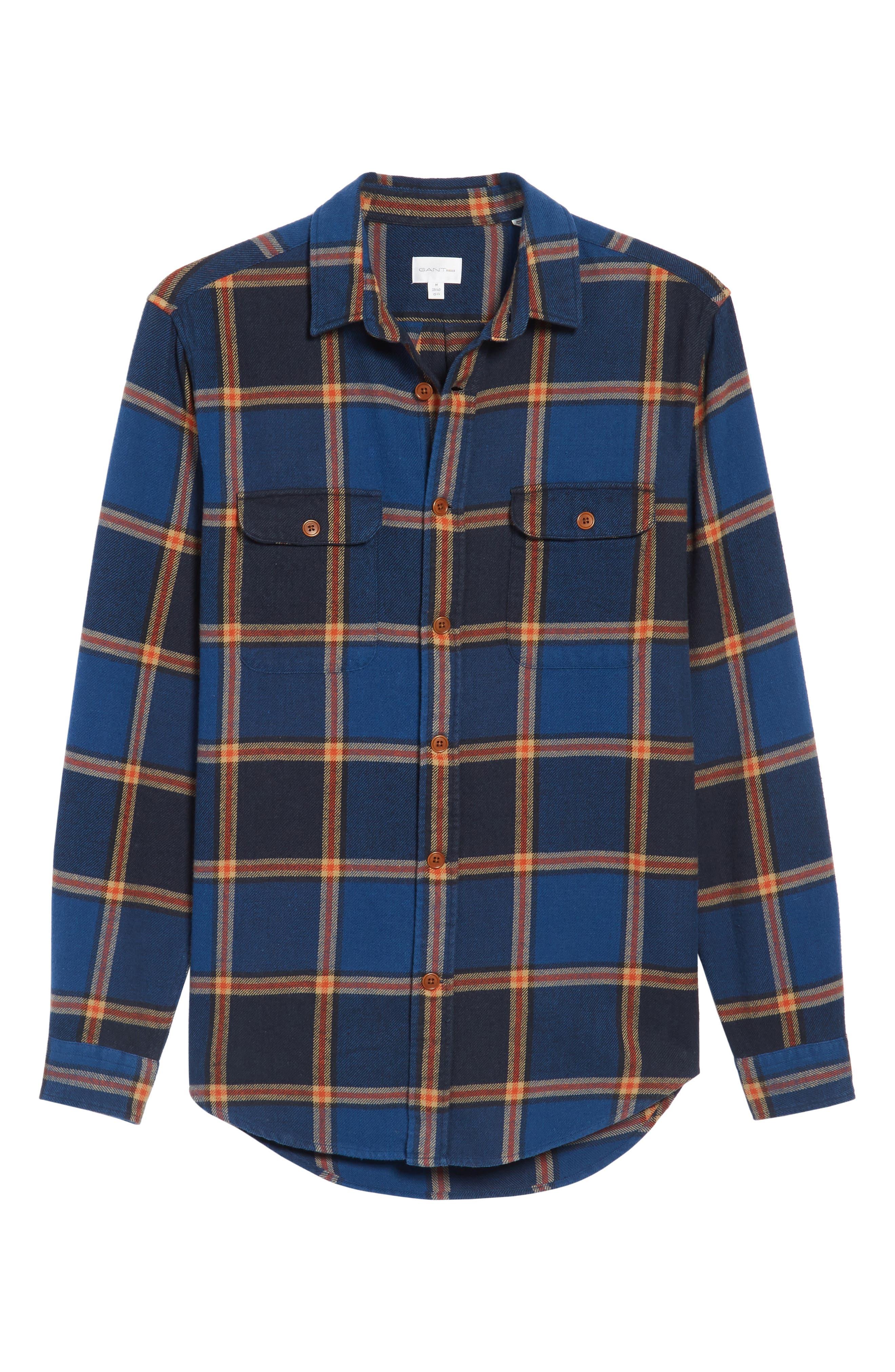 R1 Check Twill Shirt Jacket,                             Alternate thumbnail 6, color,                             410