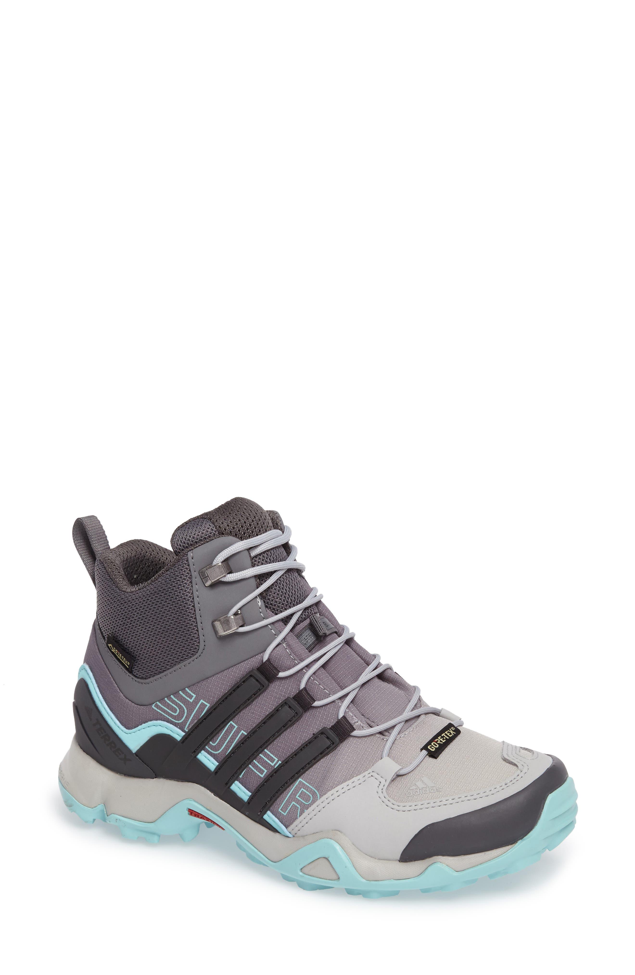 Terrex Swift R GTX Mid Hiking Boot,                         Main,                         color, 020