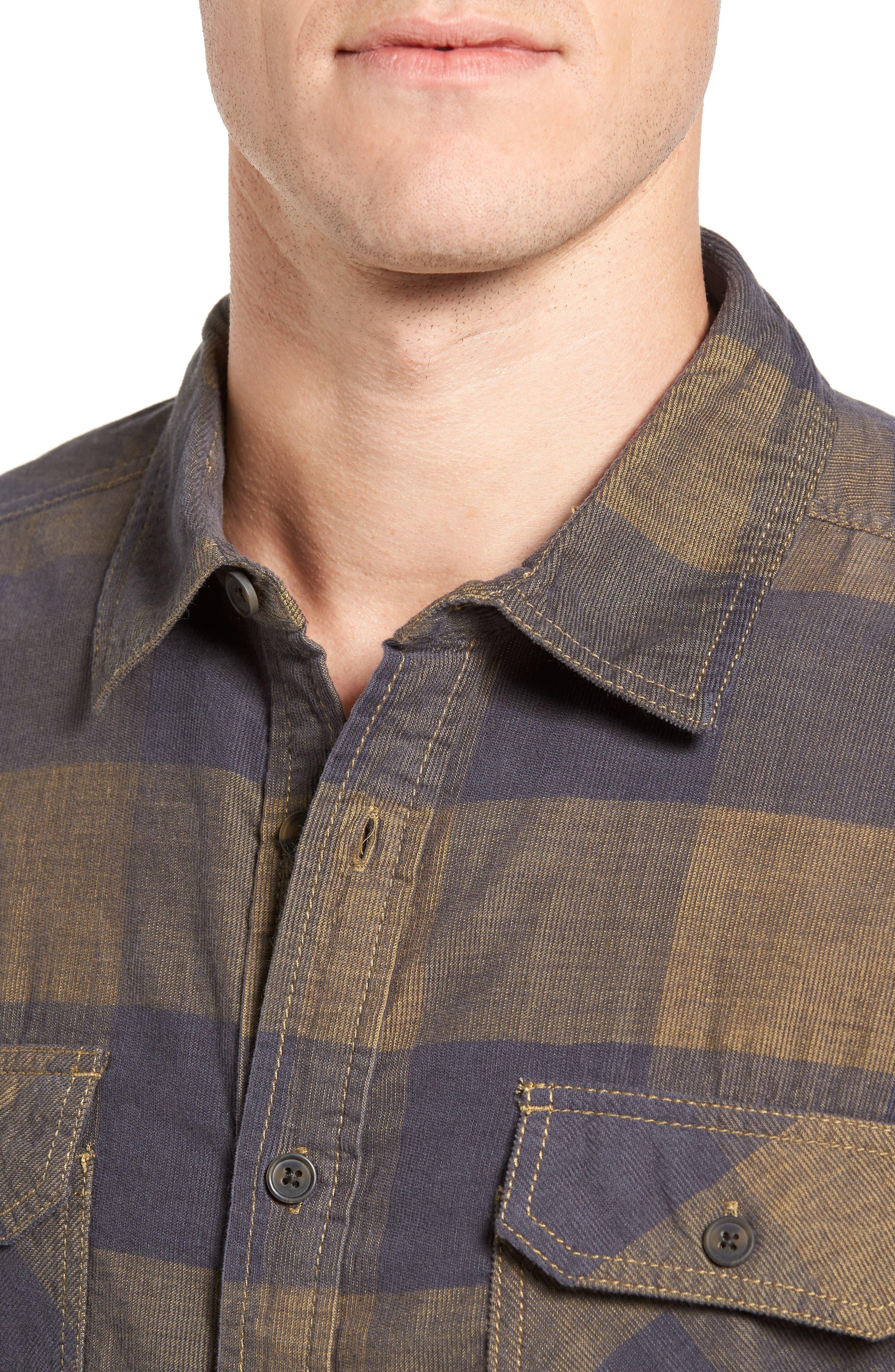 Knock on My Door Regular Fit Check Corduroy Shirt,                             Alternate thumbnail 9, color,