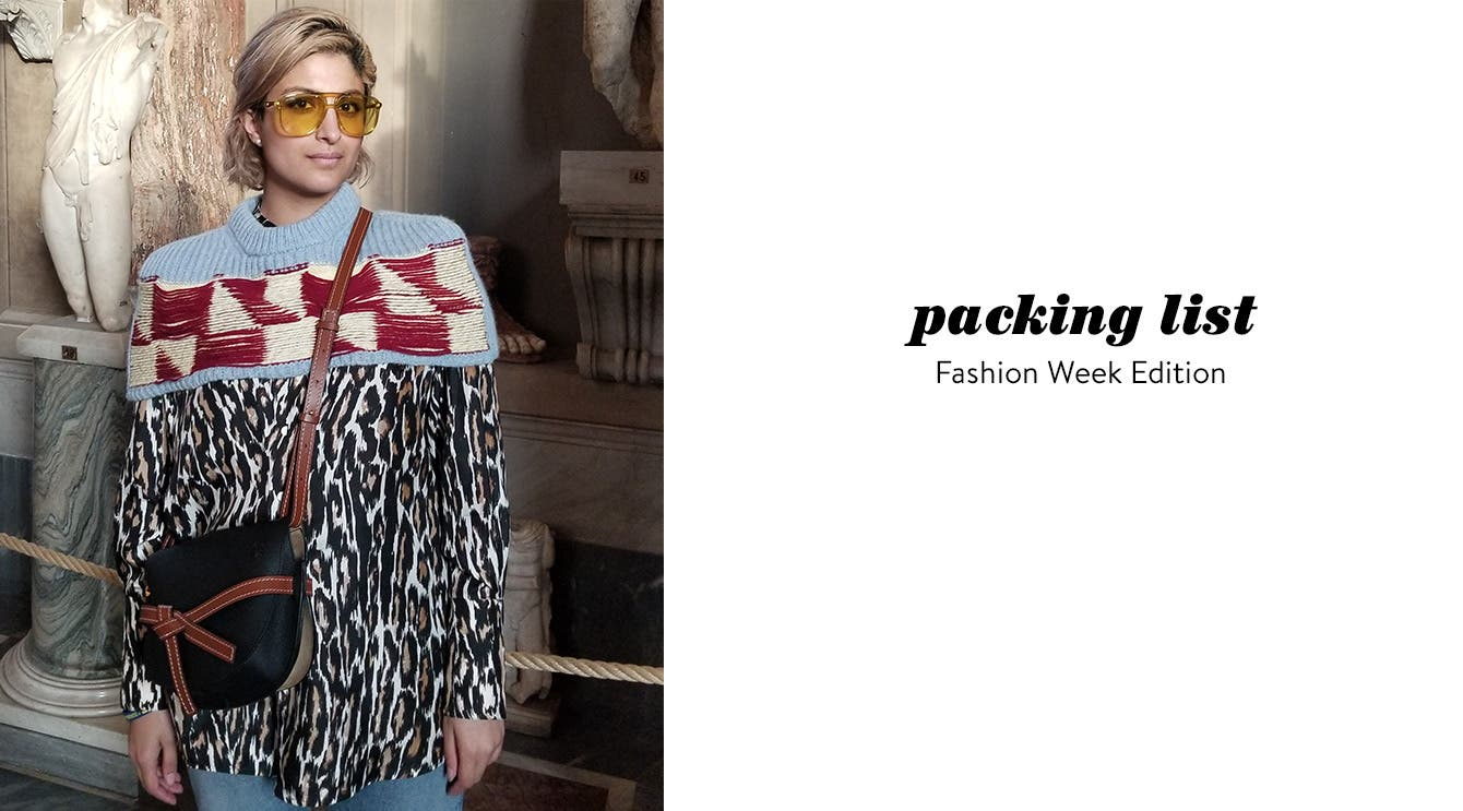 What to pack: Fashion Week edition.