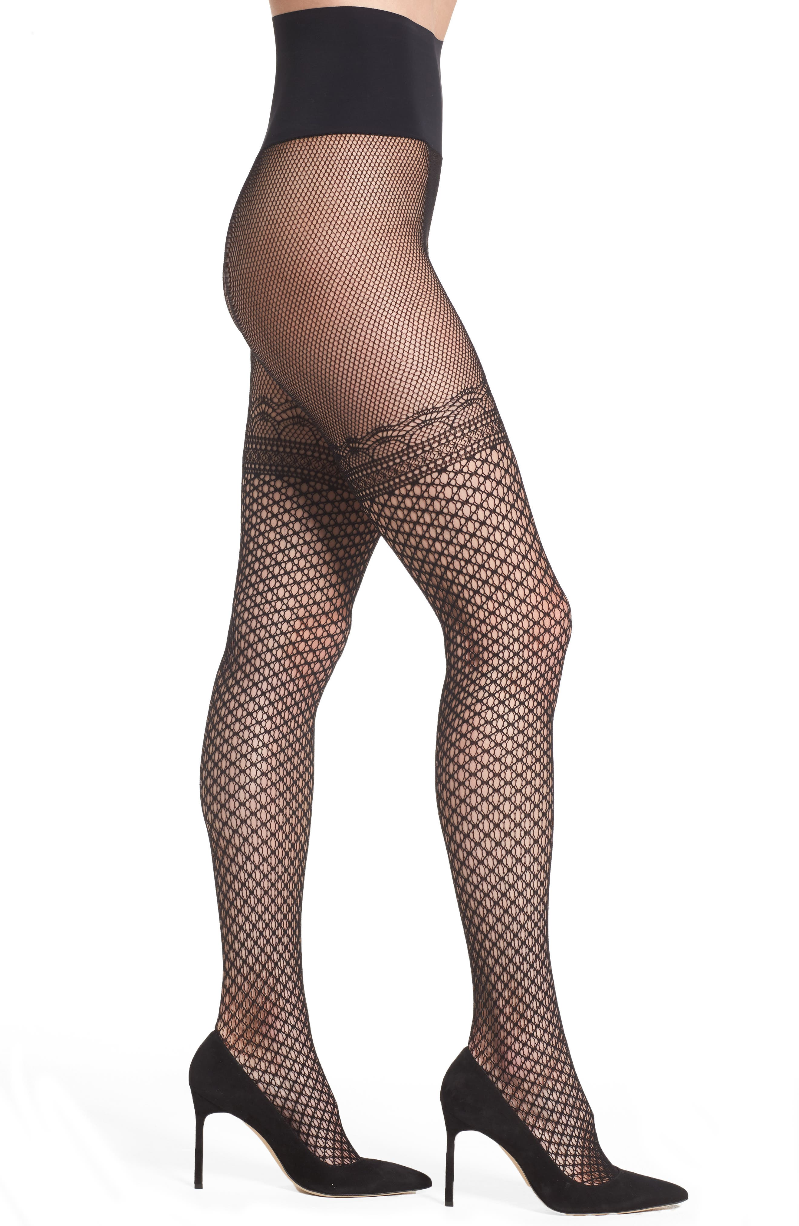 Deco Fishnet Tights,                         Main,                         color, 001