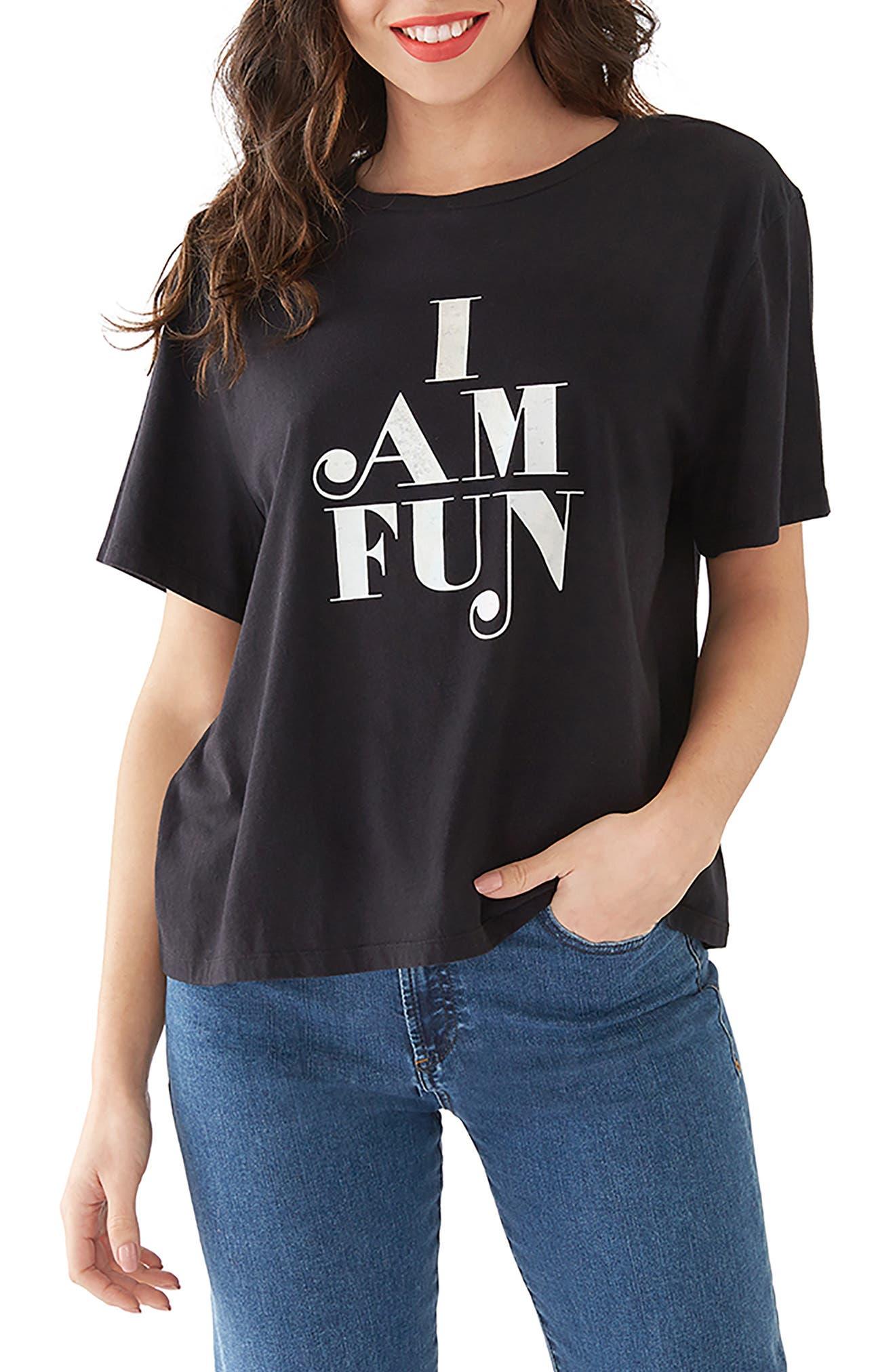 BAN.DO Ban. Do I Am Fun Boyfriend Tee in Black
