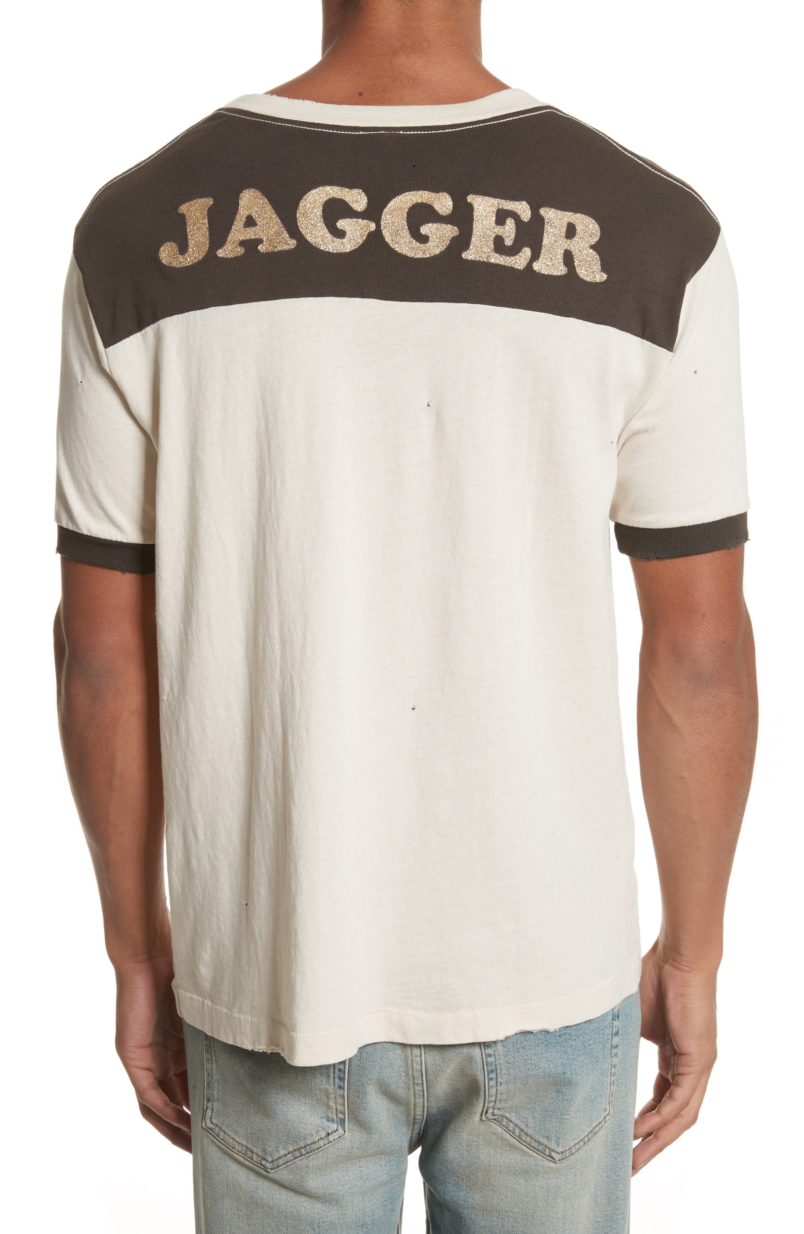 Rolling Stones T-Shirt,                             Alternate thumbnail 2, color,                             WHITE/ BLACK