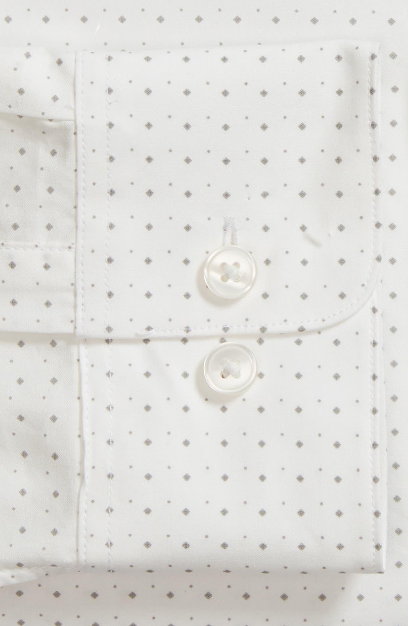 Regular Fit Diamond Dress Shirt,                             Alternate thumbnail 6, color,                             GRIFFIN GREY