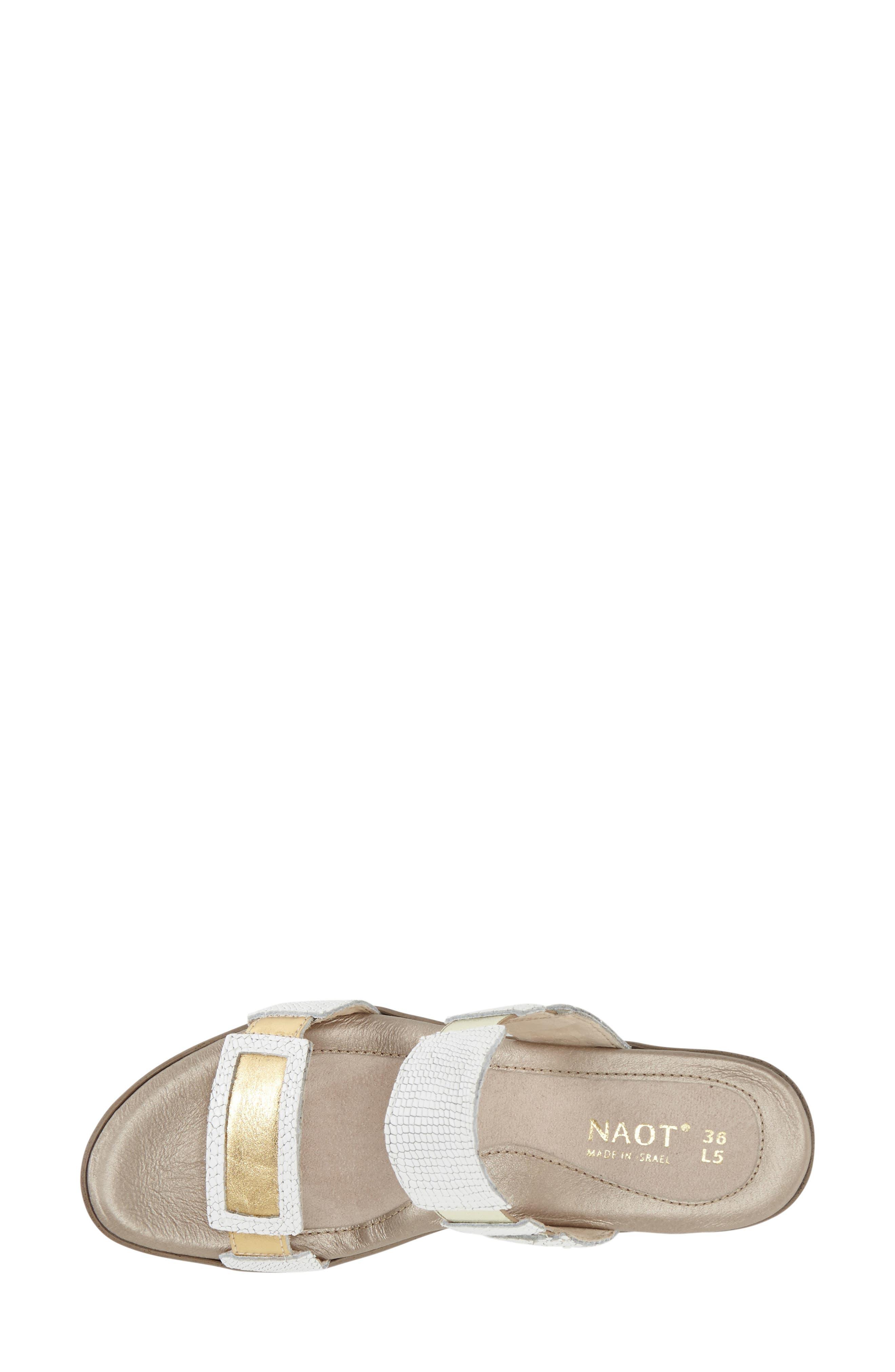 'Treasure' Sandal,                             Alternate thumbnail 2, color,                             WHITE GOLD SNAKE LEATHER