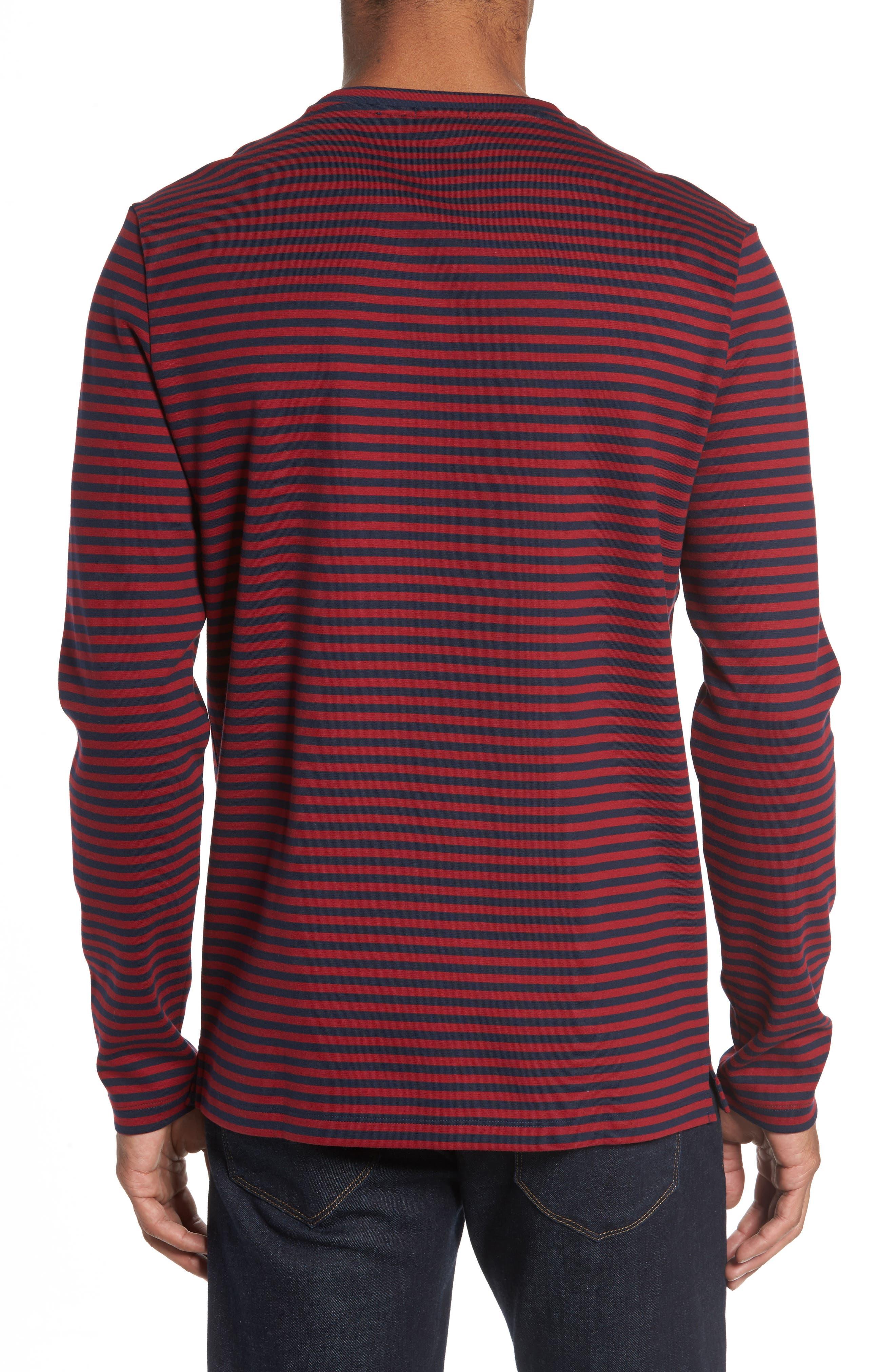 Stripe Long Sleeve T-Shirt,                             Alternate thumbnail 2, color,                             611