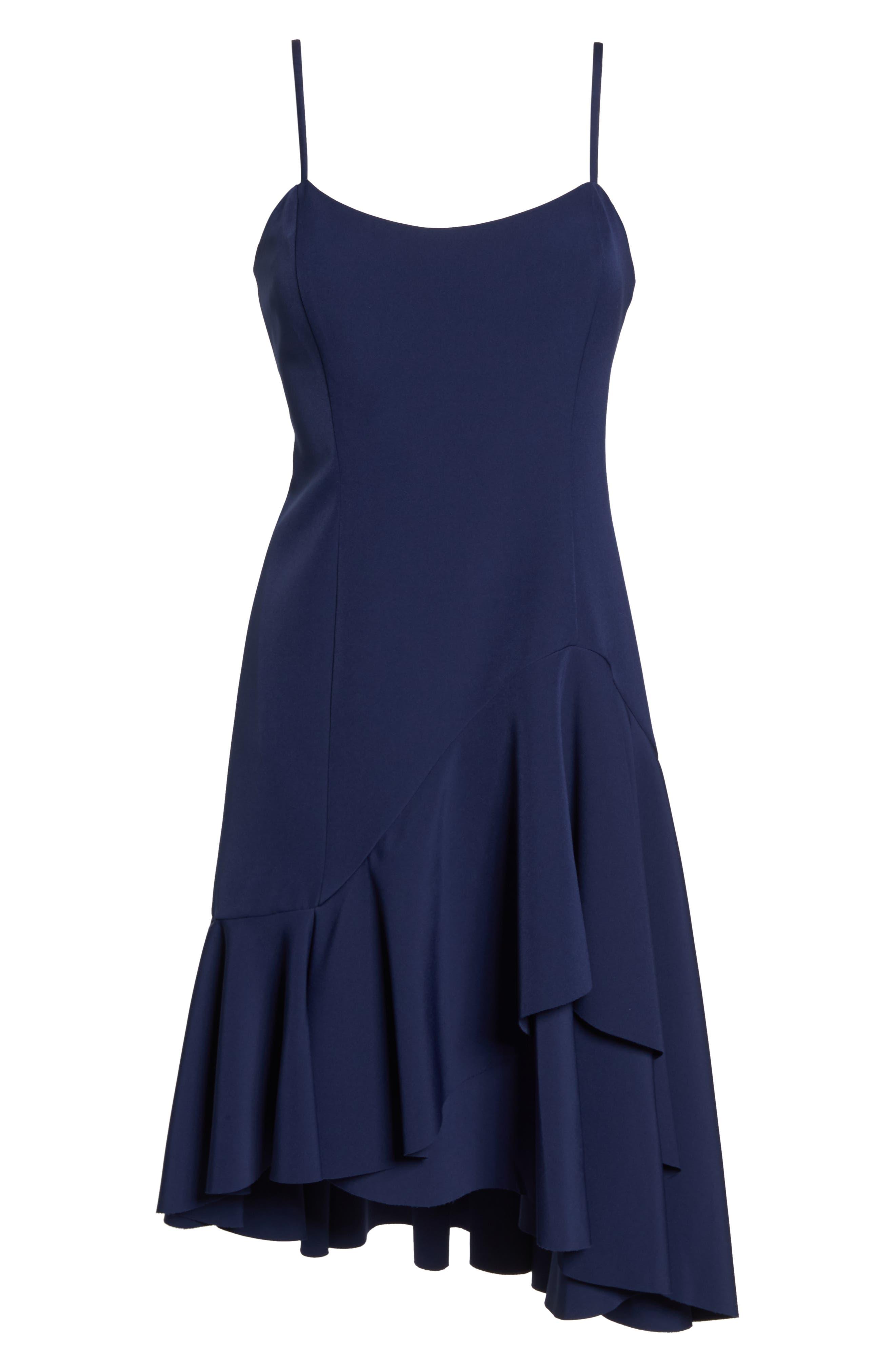 High/Low Ruffle Hem Dress,                             Alternate thumbnail 7, color,                             410