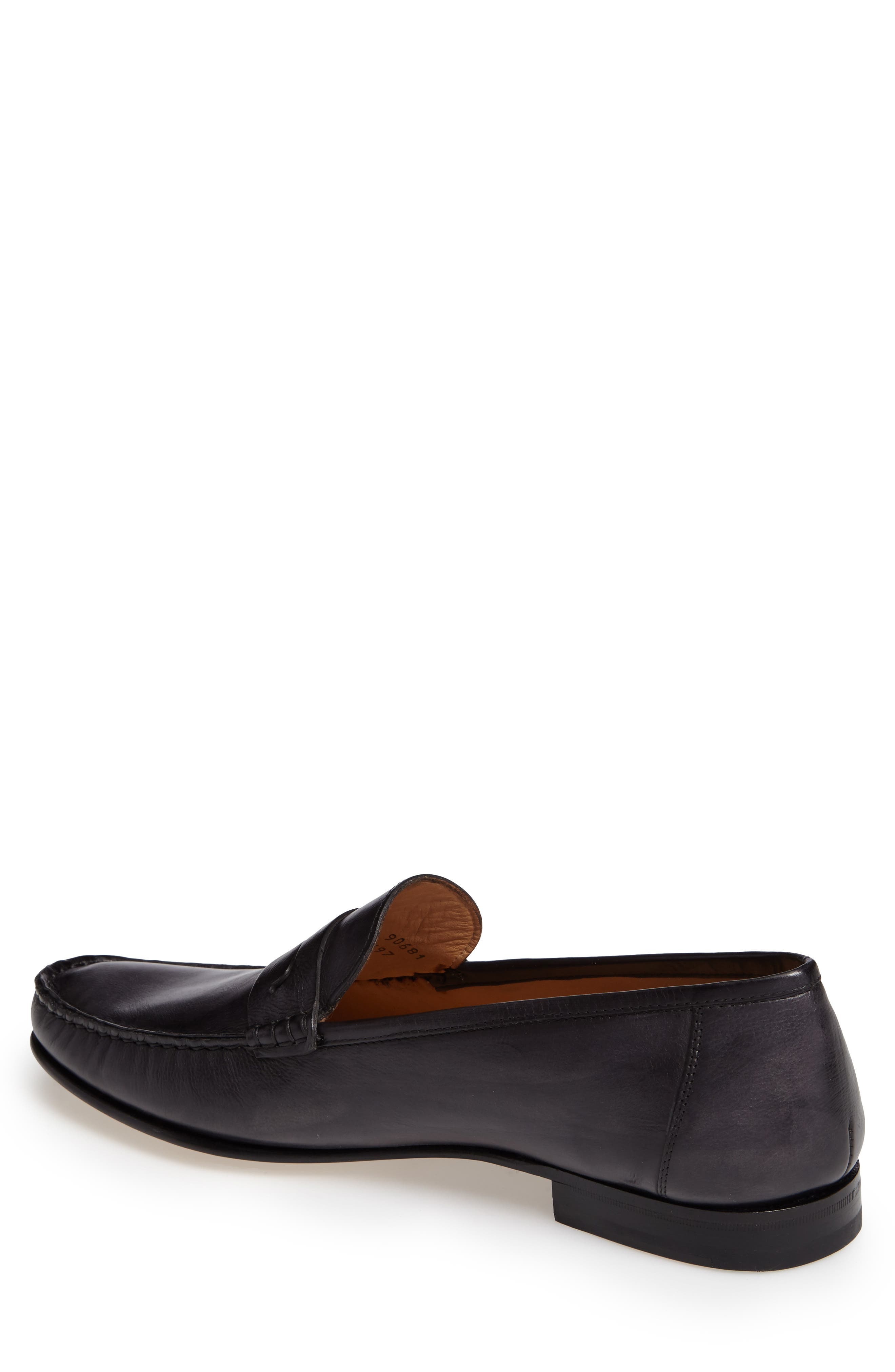 Pauli Classic Penny Loafer,                             Alternate thumbnail 2, color,                             BLACK LEATHER