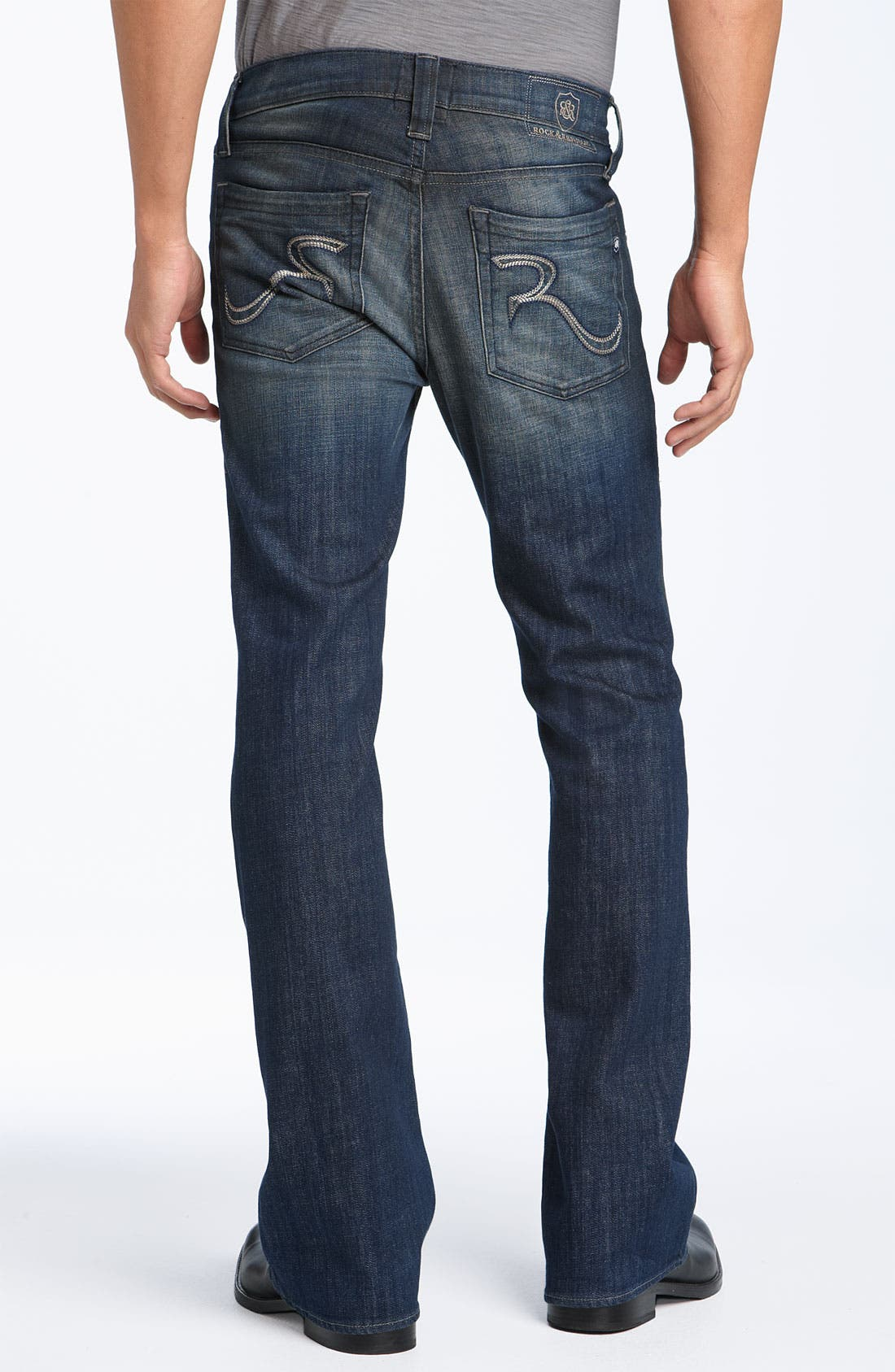 'Floyd' Relaxed Bootcut Jeans, Main, color, 418
