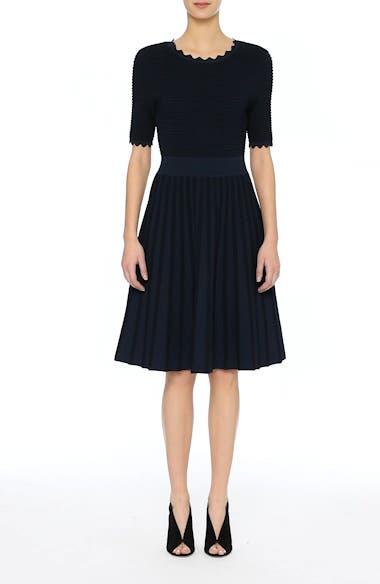Scallop Trim Stripe Dress, video thumbnail