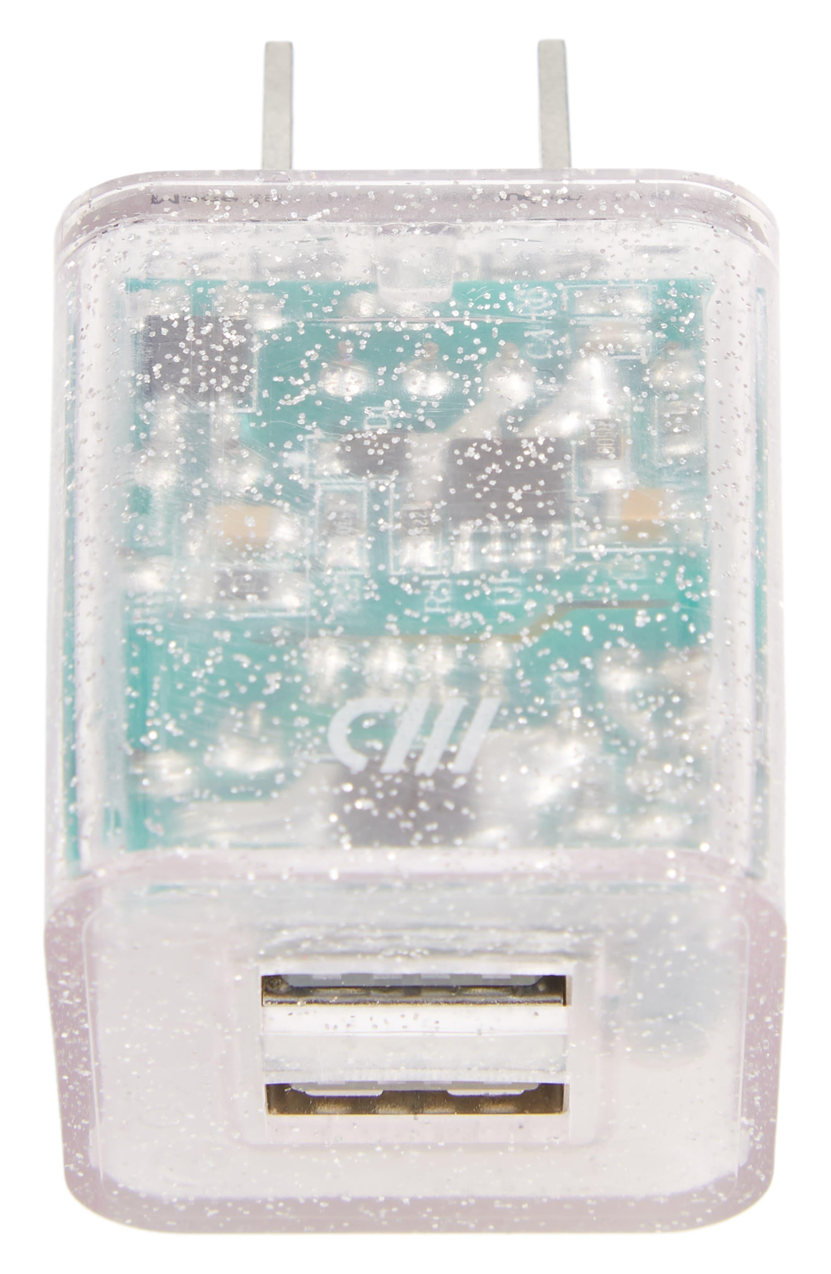 Dual USB Wall Charger,                             Main thumbnail 1, color,                             500