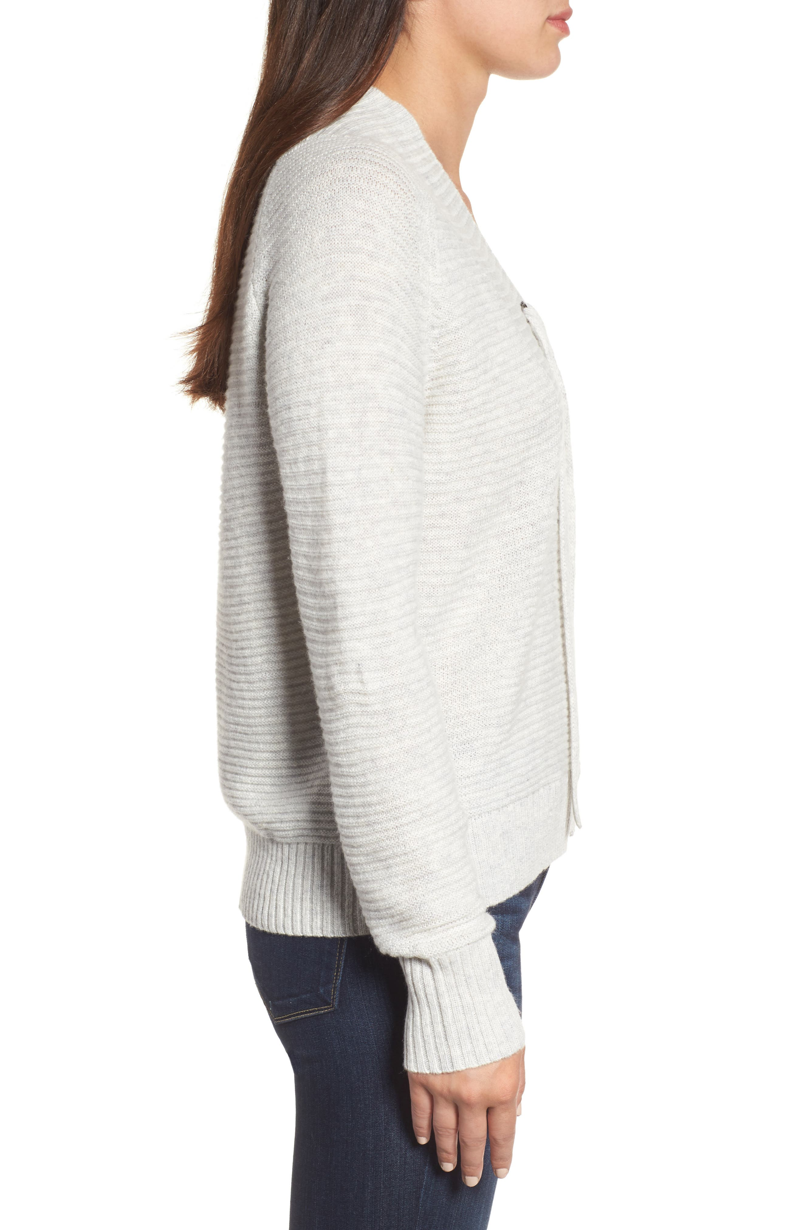Lace-Up Sweater,                             Alternate thumbnail 5, color,