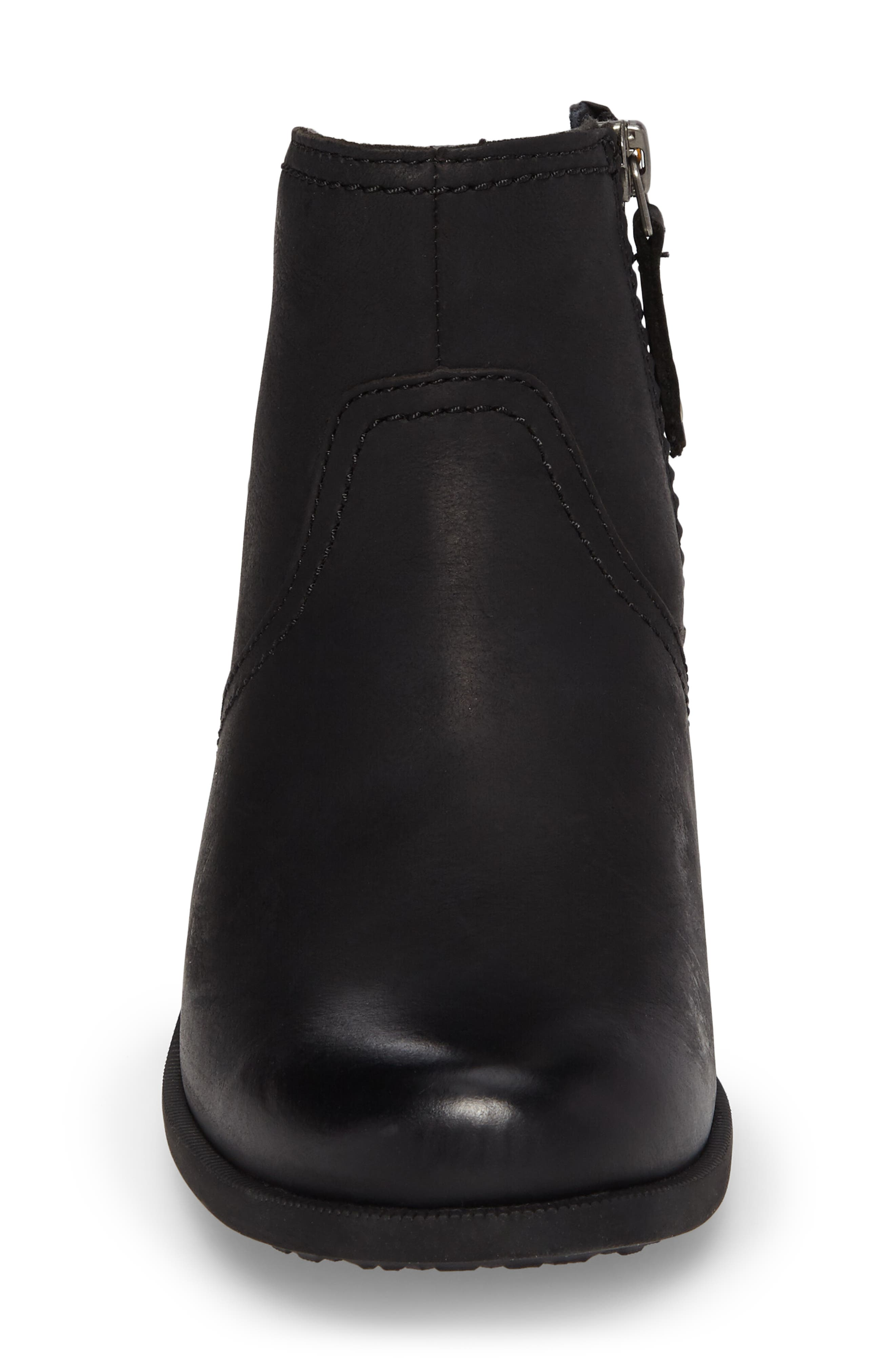 'Foxy' Bootie,                             Alternate thumbnail 4, color,                             BLACK LEATHER