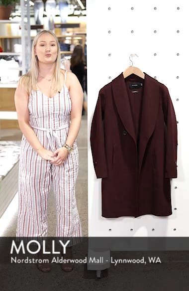 Caleigh Fitted Wool Blend Coat, sales video thumbnail