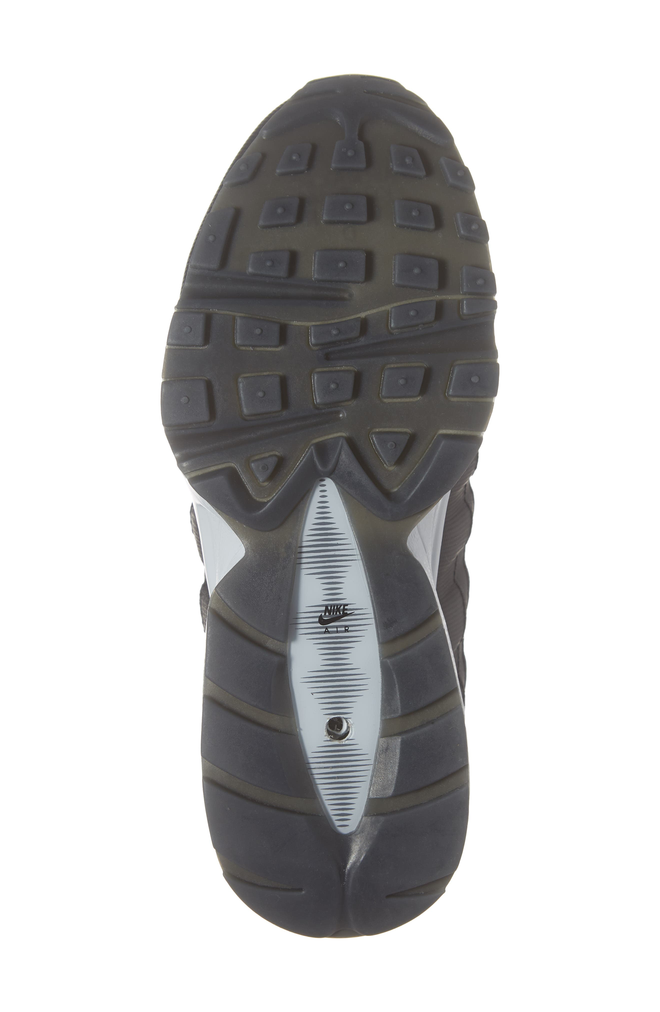 Air Max 95 Y2K Sneaker,                             Alternate thumbnail 6, color,                             BLACK METALLIC SILVER