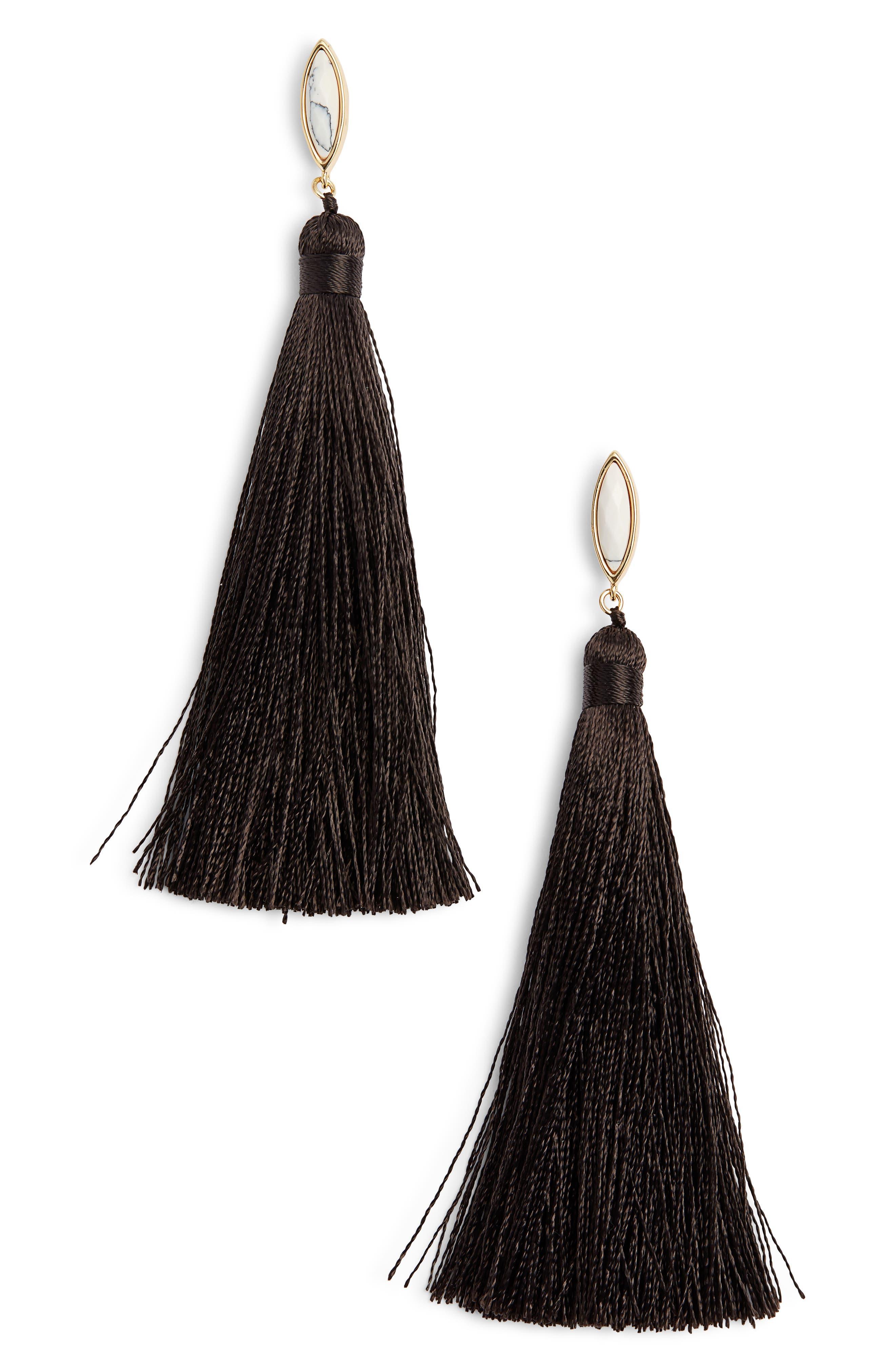 Palisades Tassel Earrings,                         Main,                         color, 100