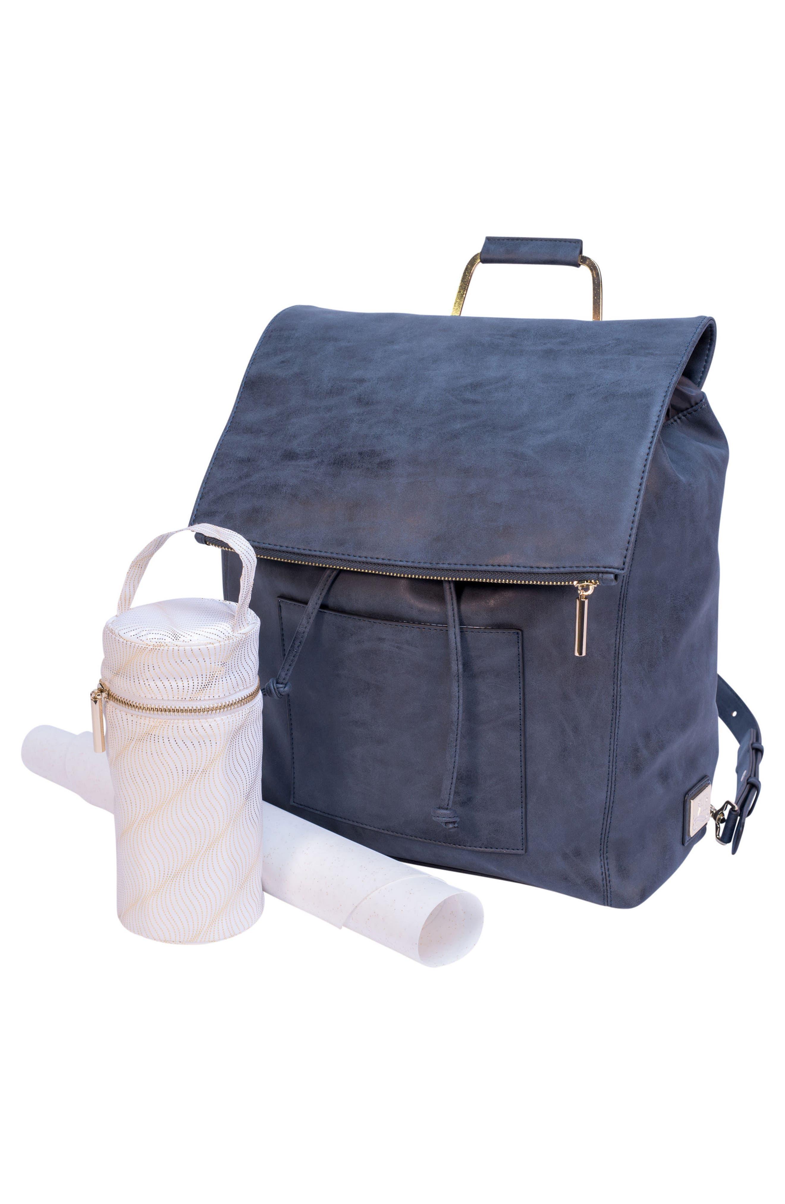 Highbury Hill Diaper Backpack,                             Alternate thumbnail 5, color,                             DUSTY NAVY
