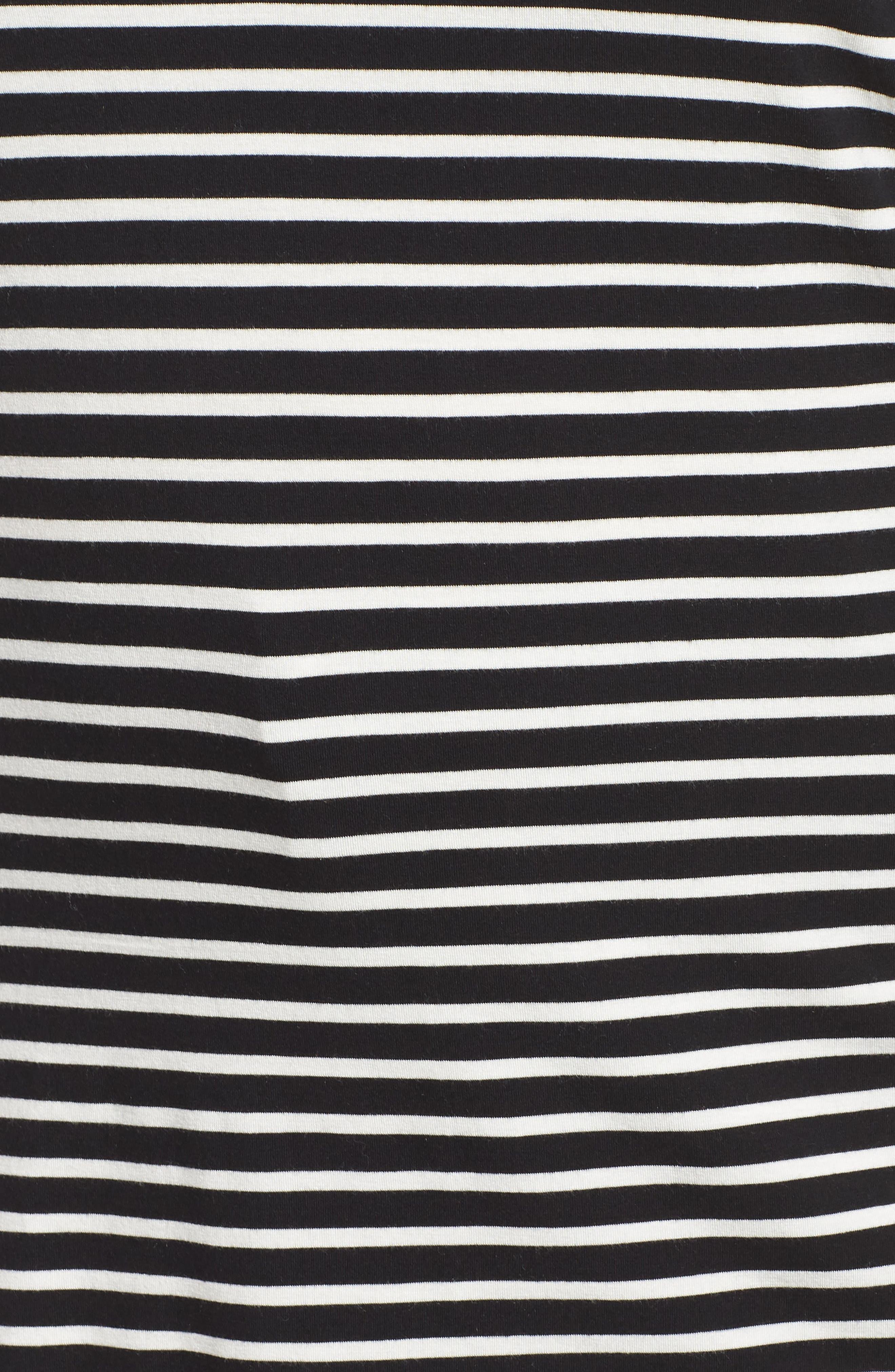 Stripe Tunic,                             Alternate thumbnail 5, color,                             BLACK- IVORY ELAINA STRIPE