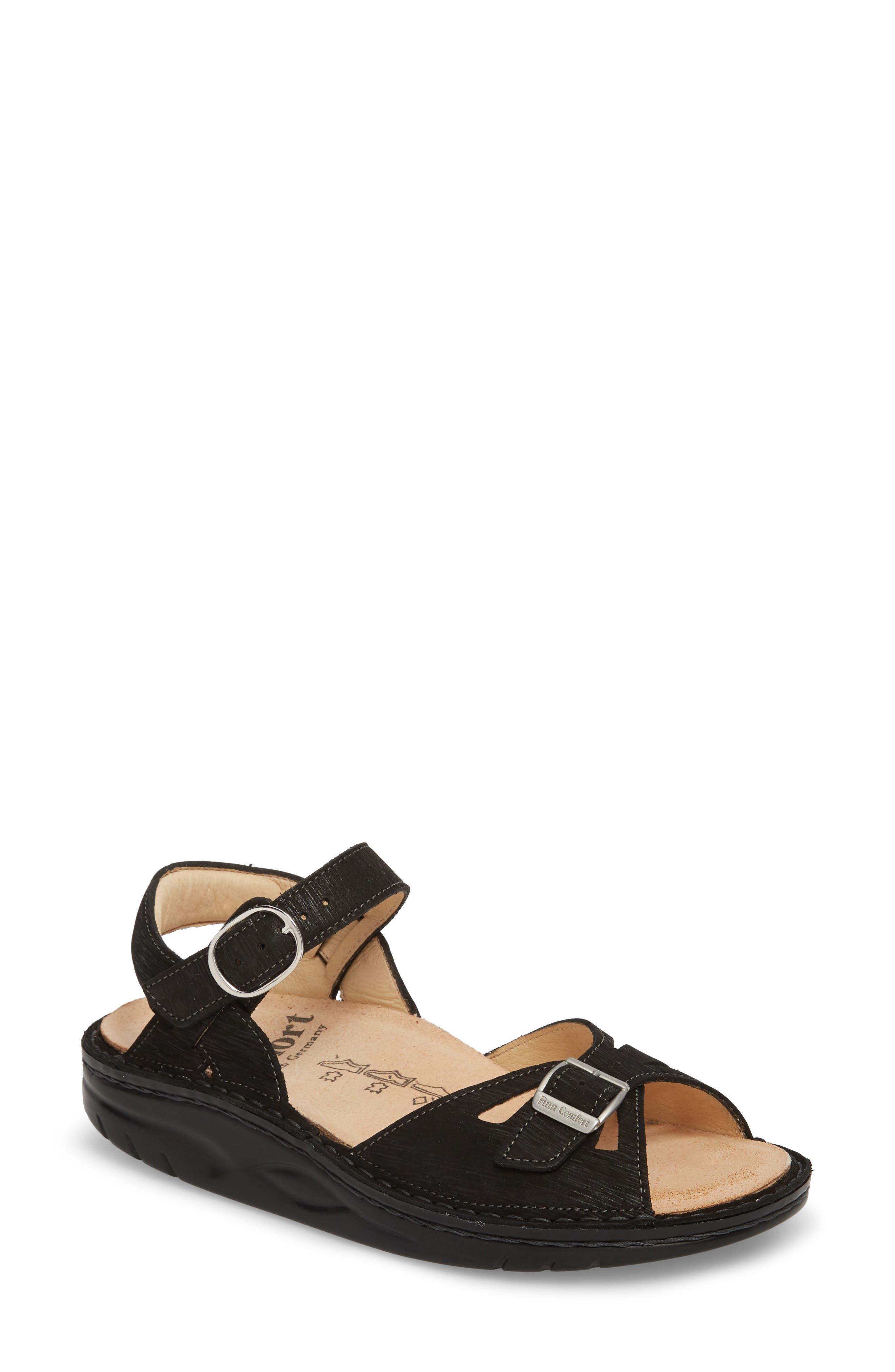 FINN COMFORT Motomachi Sandal, Main, color, 001