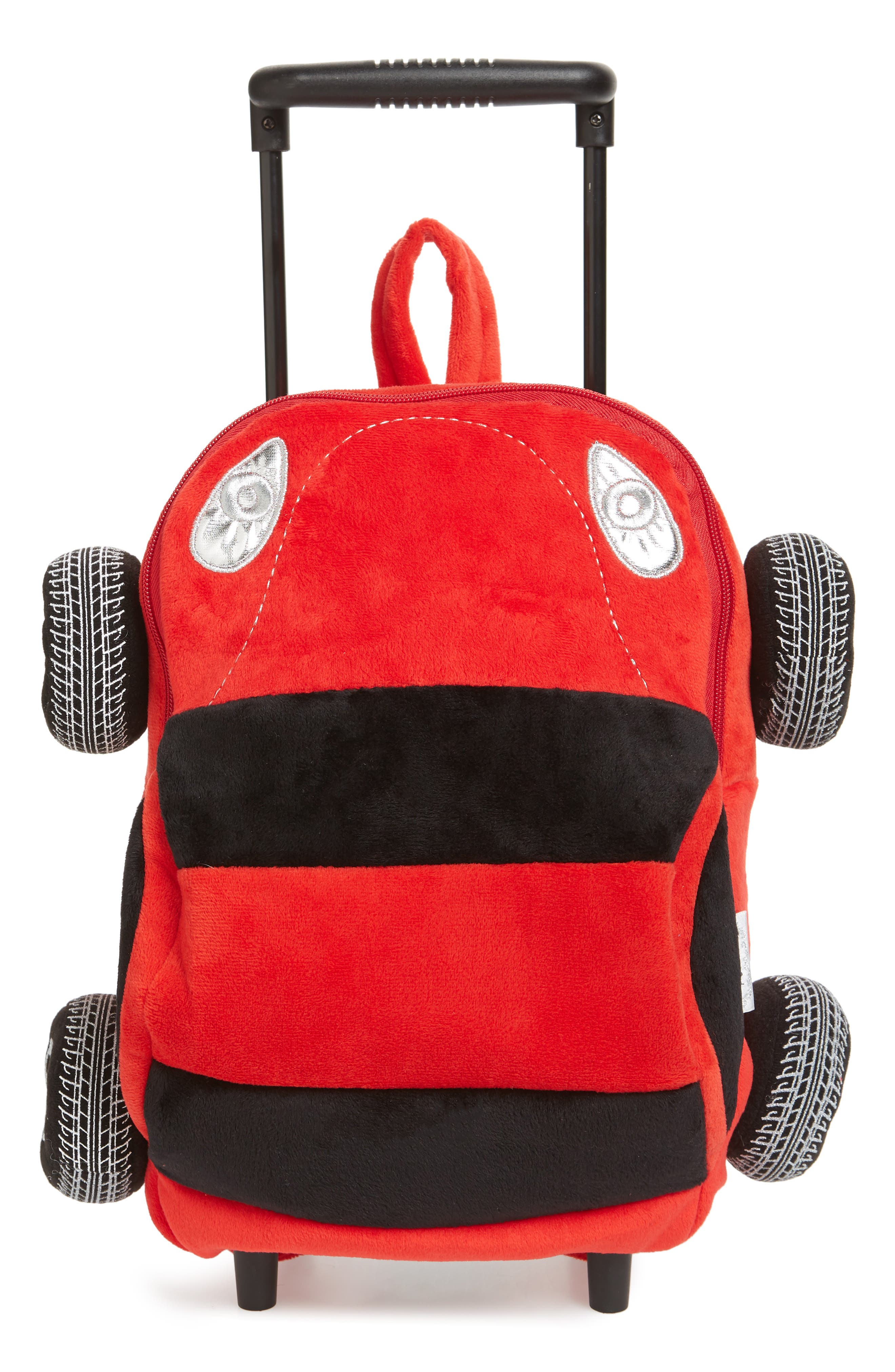 Boys Popatu Trolly Rolling Backpack Car  Red
