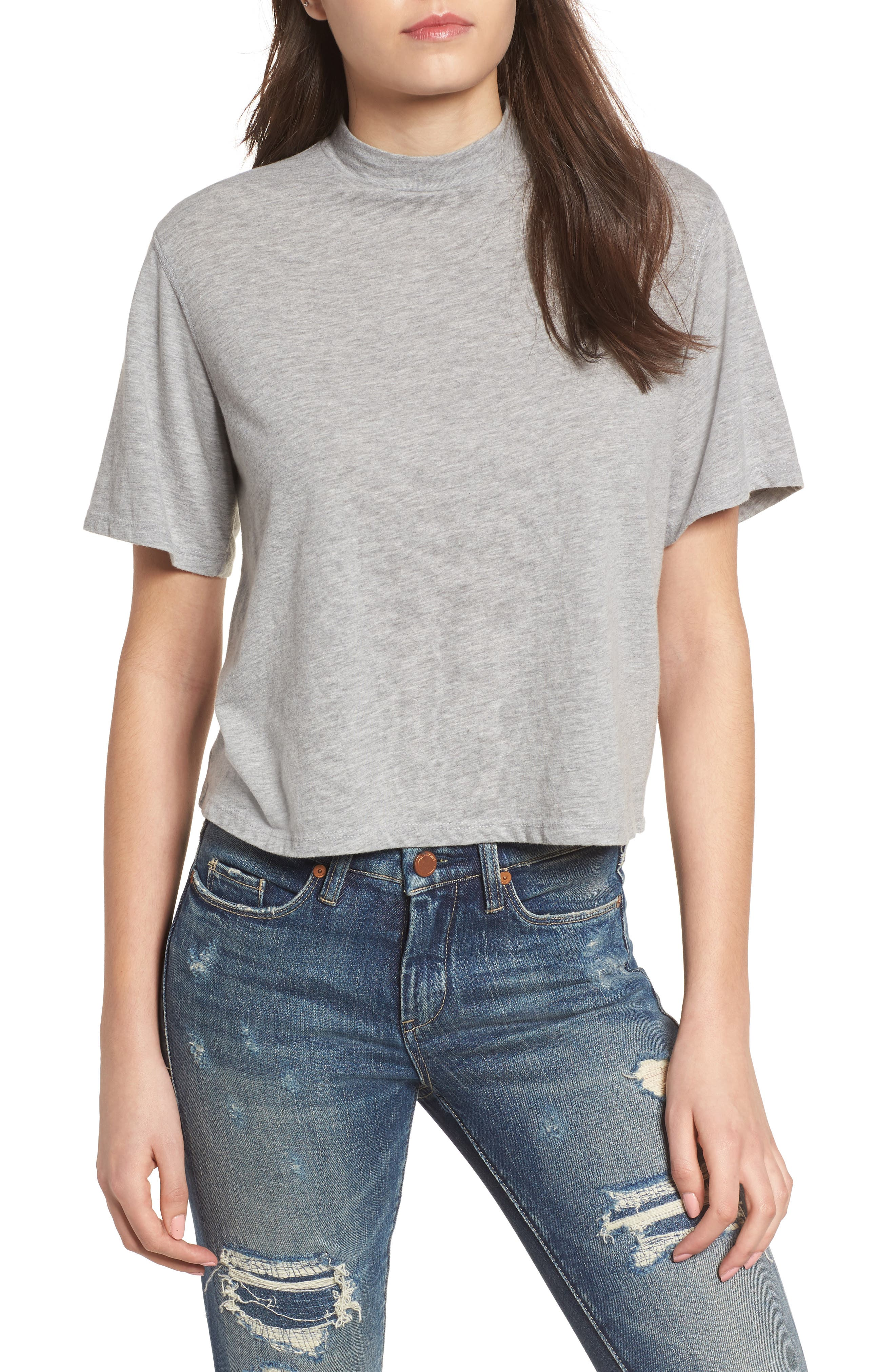 Mock Neck Tee,                         Main,                         color,
