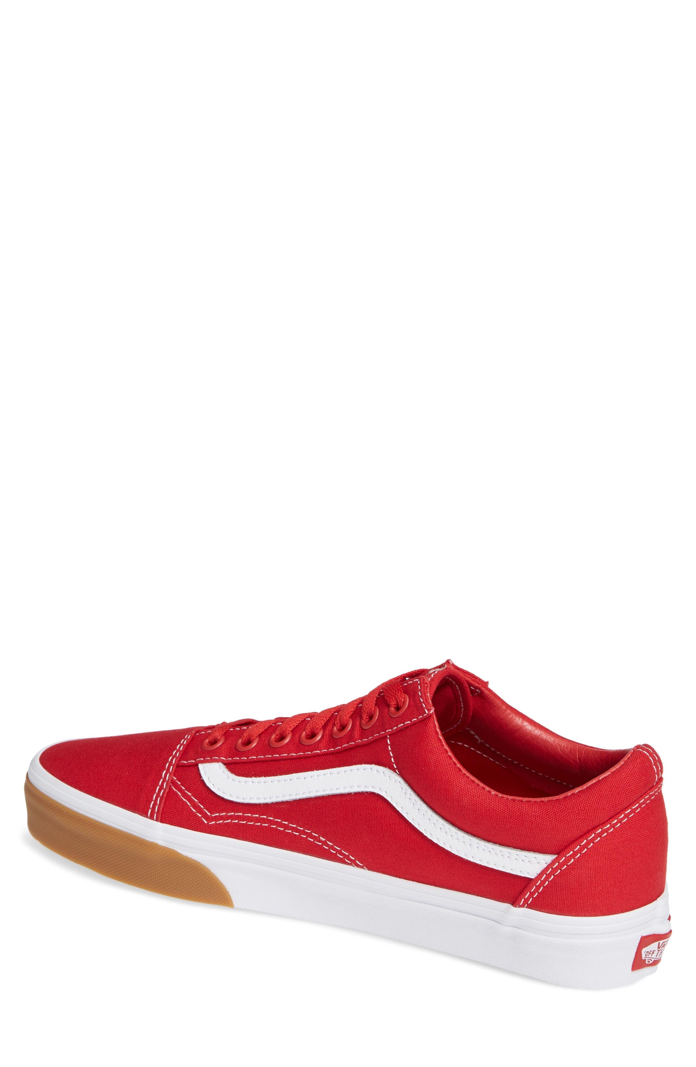 VANS,                             Gum Old Skool Sneaker,                             Alternate thumbnail 2, color,                             RED/ TRUE WHITE