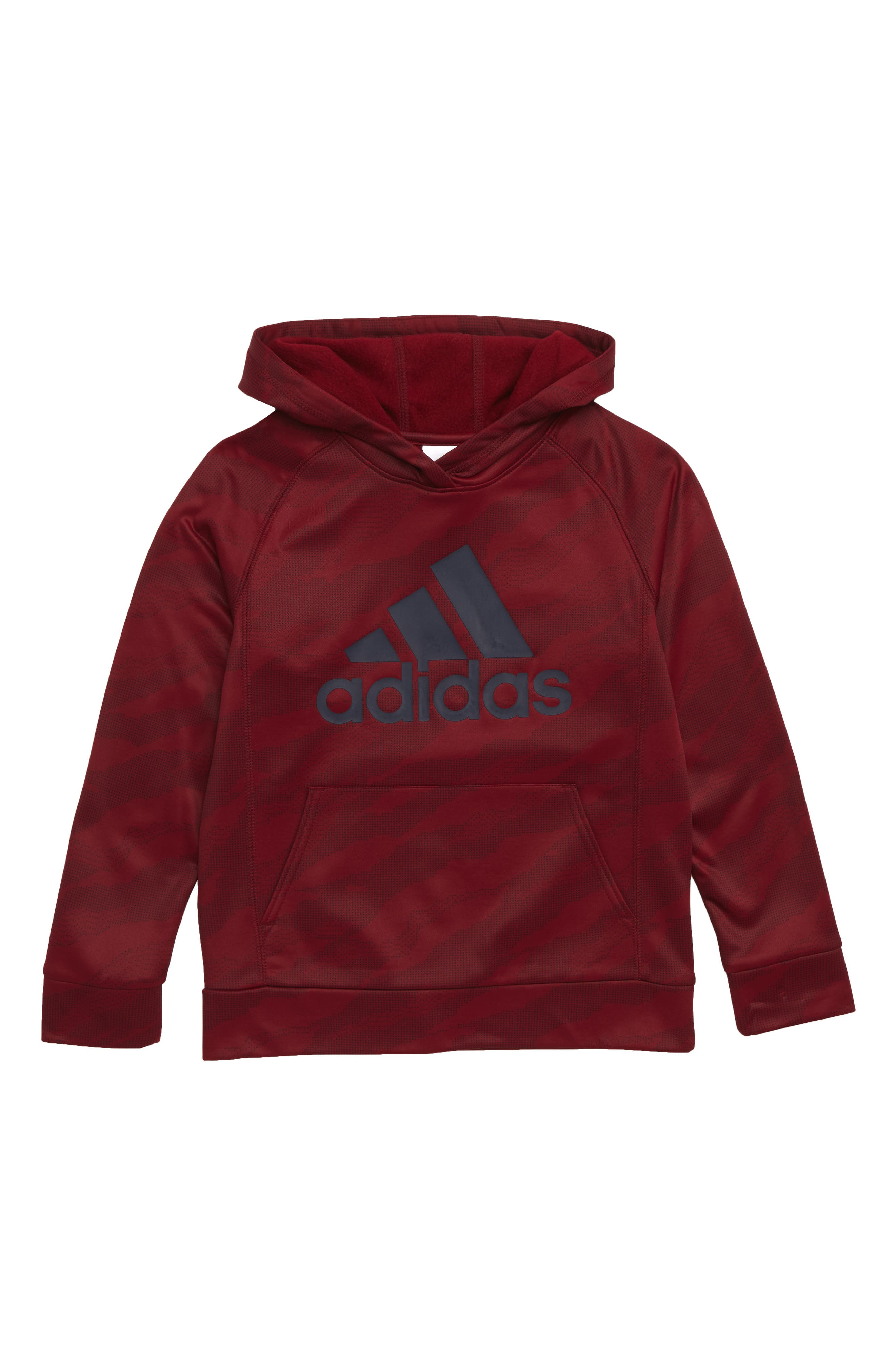 Dot Camo Climalite<sup>®</sup> Pullover Hoodie,                         Main,                         color, BURGUNDY