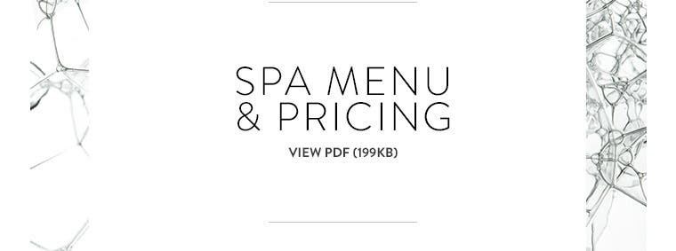 Spa Nordstrom: view pricing menu.