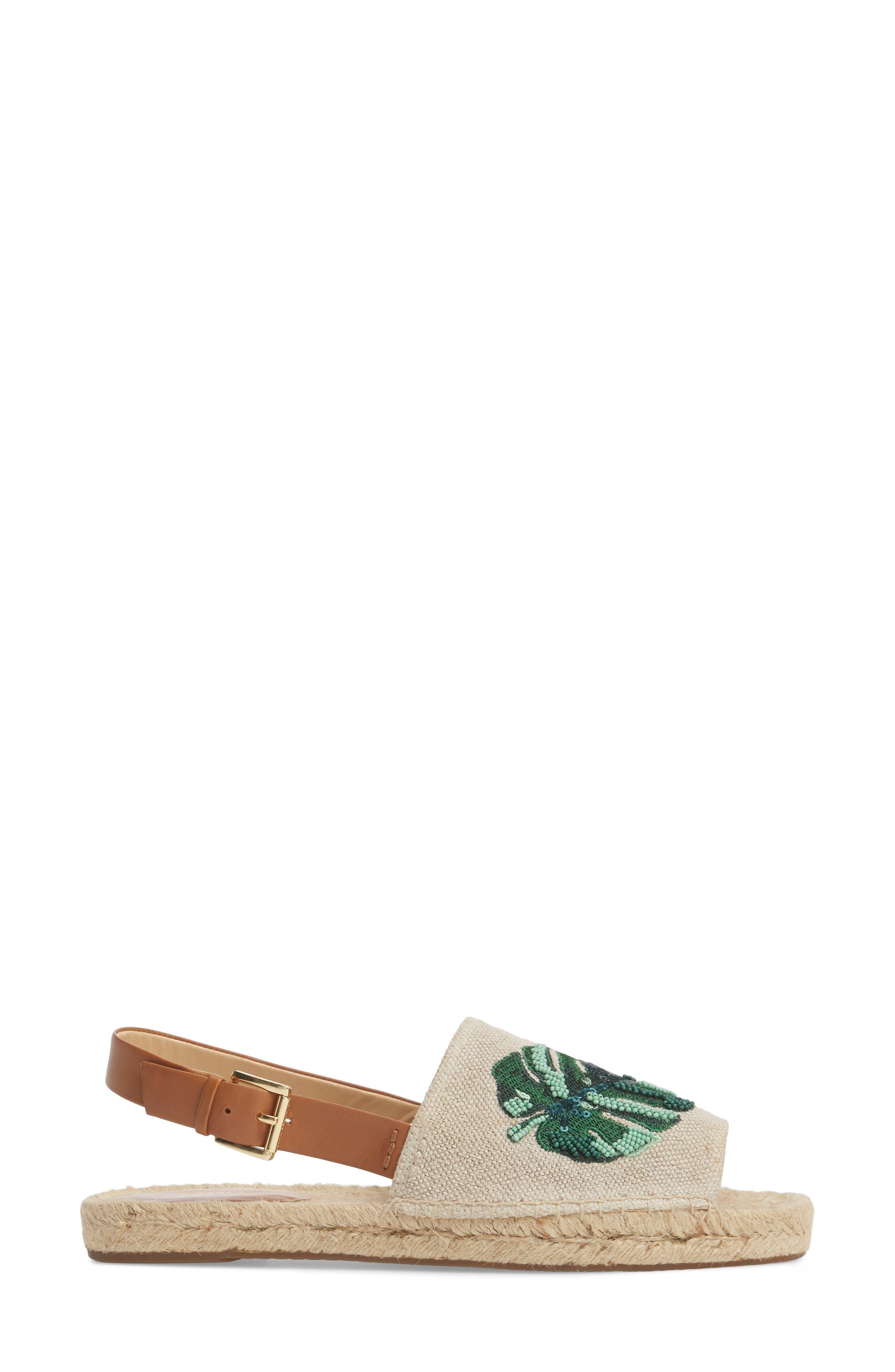 Fisher Espadrille Sandal,                             Alternate thumbnail 3, color,                             HEMP