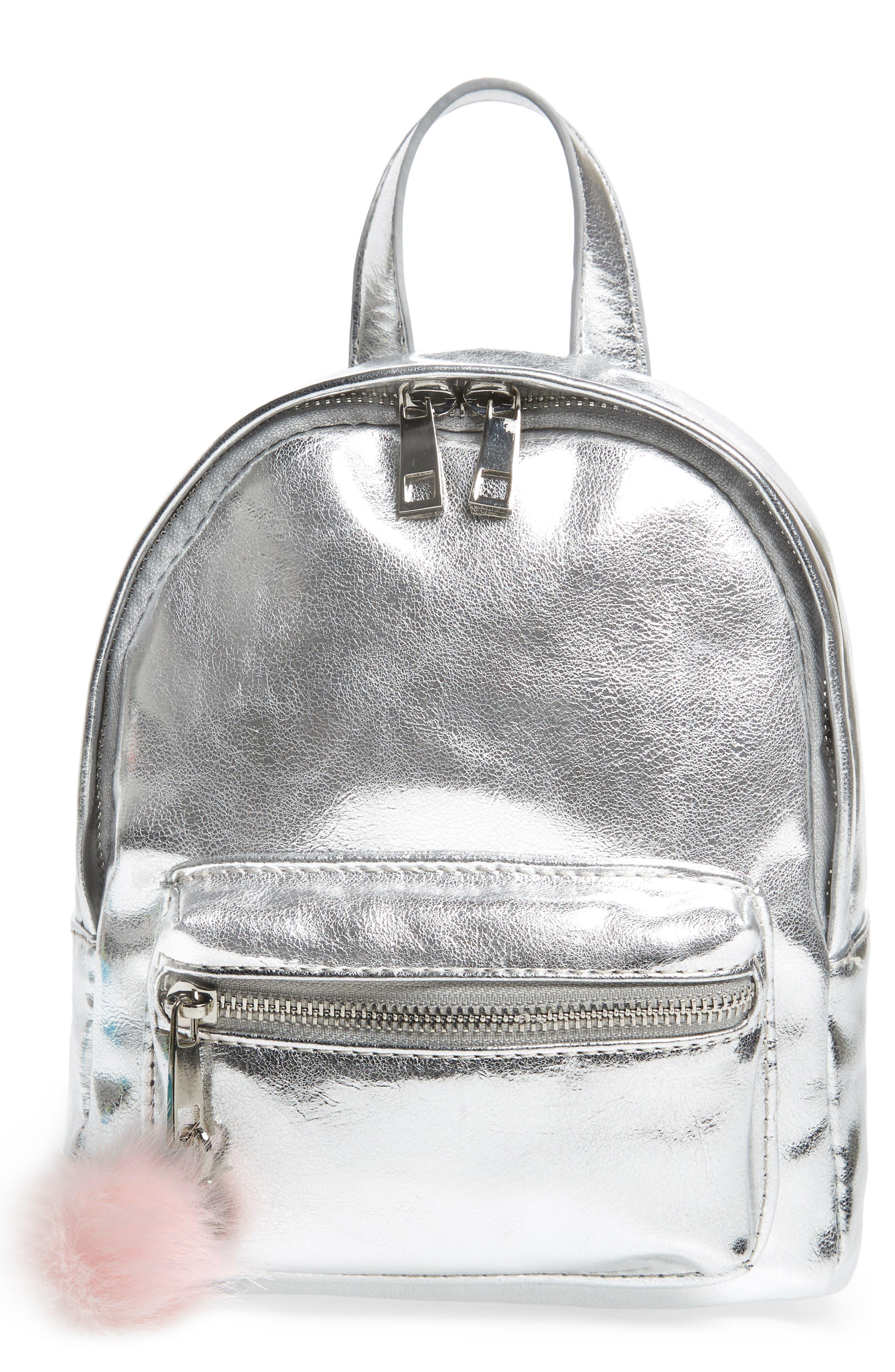 Faux Leather Mini Backpack,                             Main thumbnail 6, color,