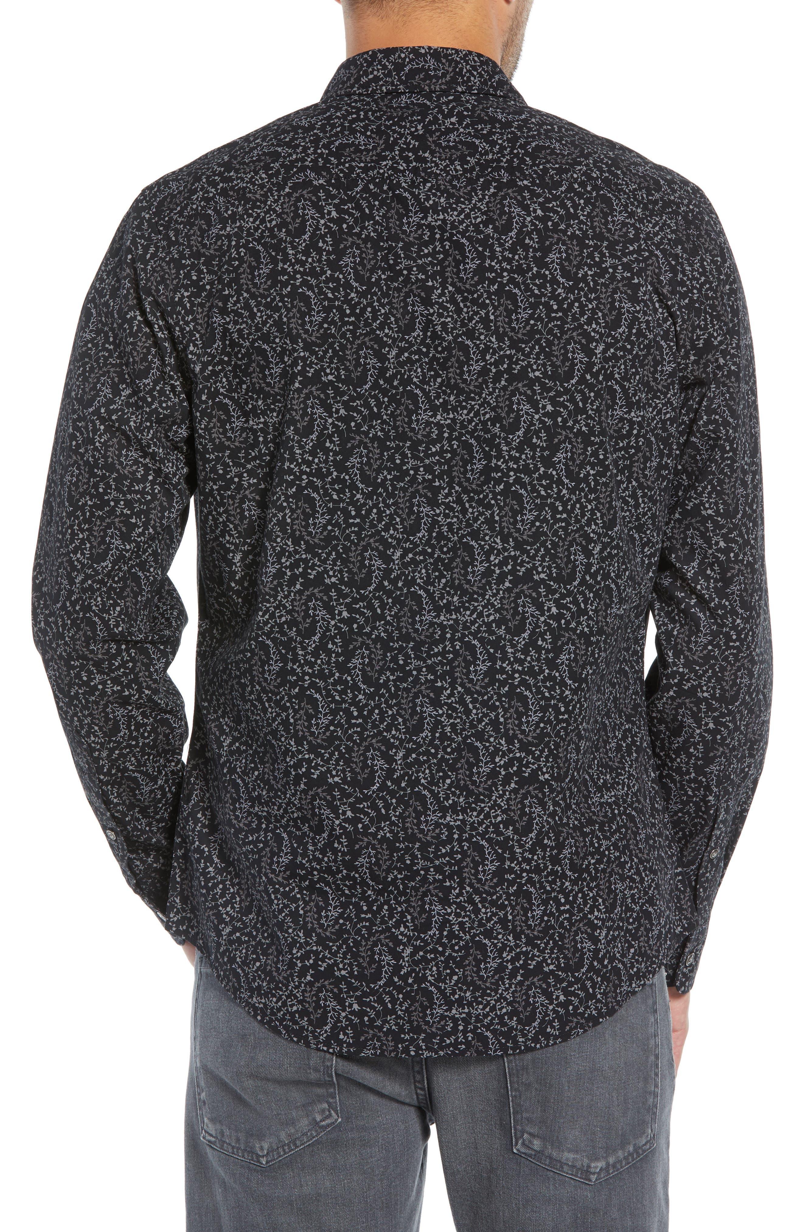 Regular Fit Print Sport Shirt,                             Alternate thumbnail 2, color,                             BLACK ROCK TUMBLEWEED